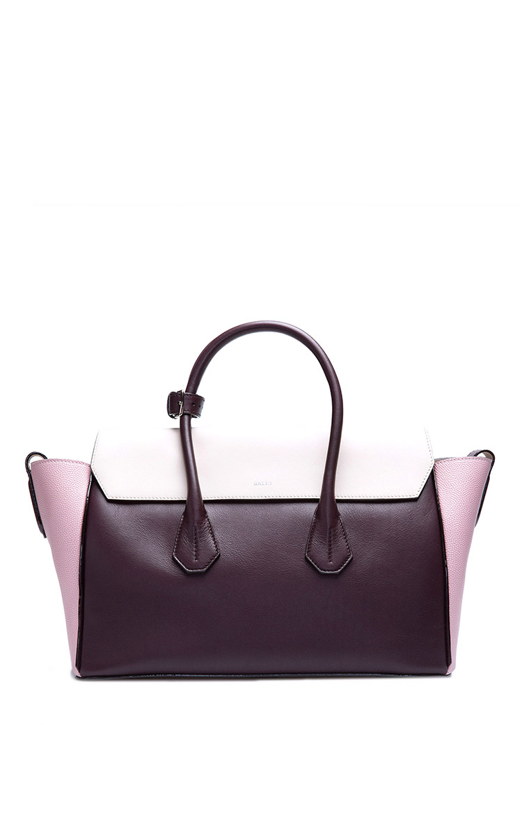 Lyst - Bally Cherry Leather Tote Bag in Purple ea6cc73f35a94