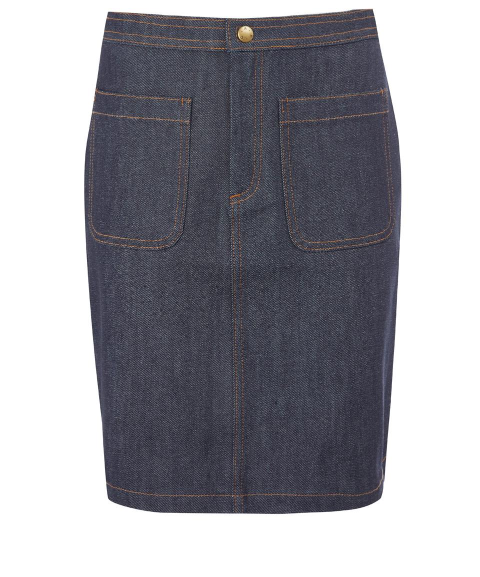 A.p.c. Indigo 70s Raw Denim Pencil Skirt in Blue | Lyst