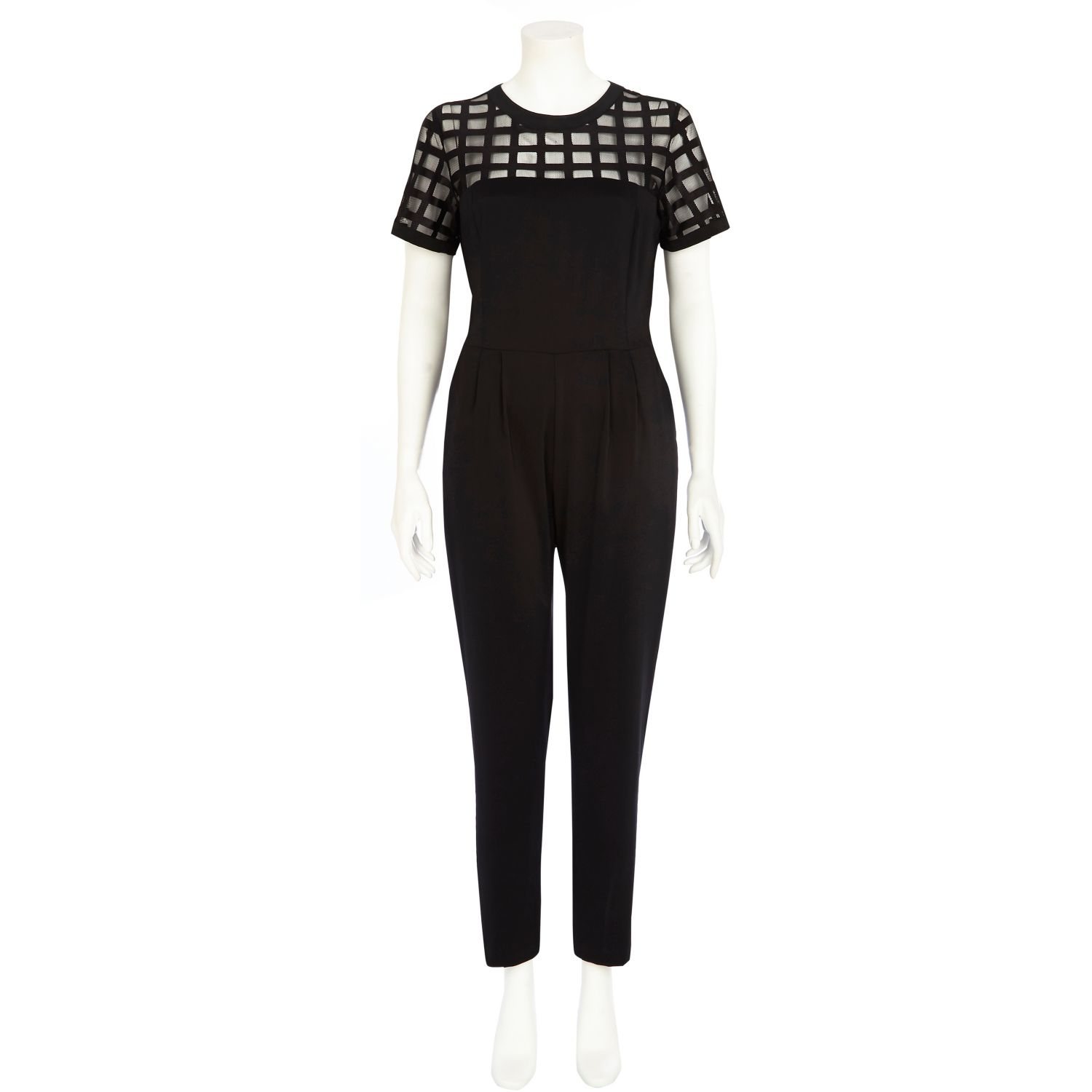 White Mesh Jumpsuit River Island