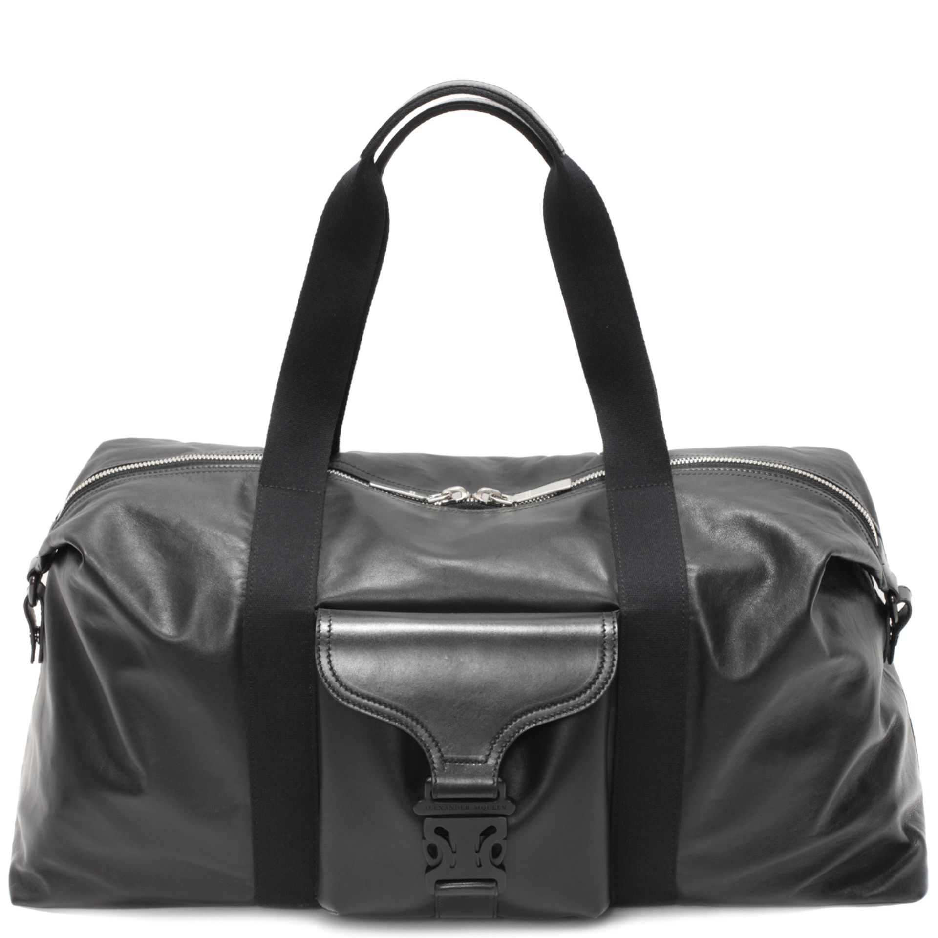 a3f457ad9097 Lyst - Alexander Mcqueen Leather Tech Gym Bag in Black