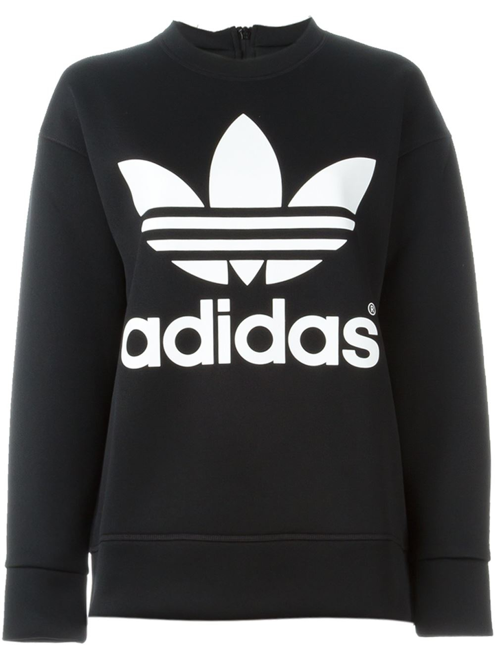 lyst adidas originals 39 adidas x hyke 39 sweatshirt in black. Black Bedroom Furniture Sets. Home Design Ideas