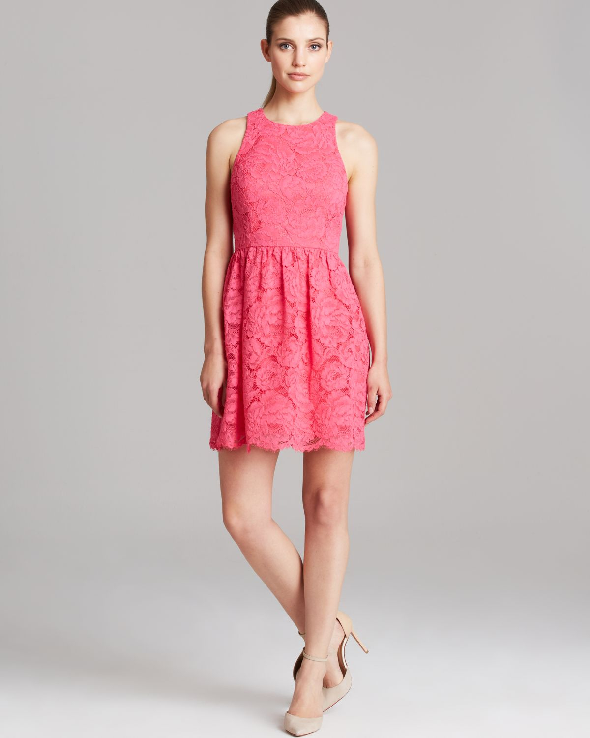Trina turk Dress Parry Sleeveless Parry Rose Bud Lace in Pink | Lyst