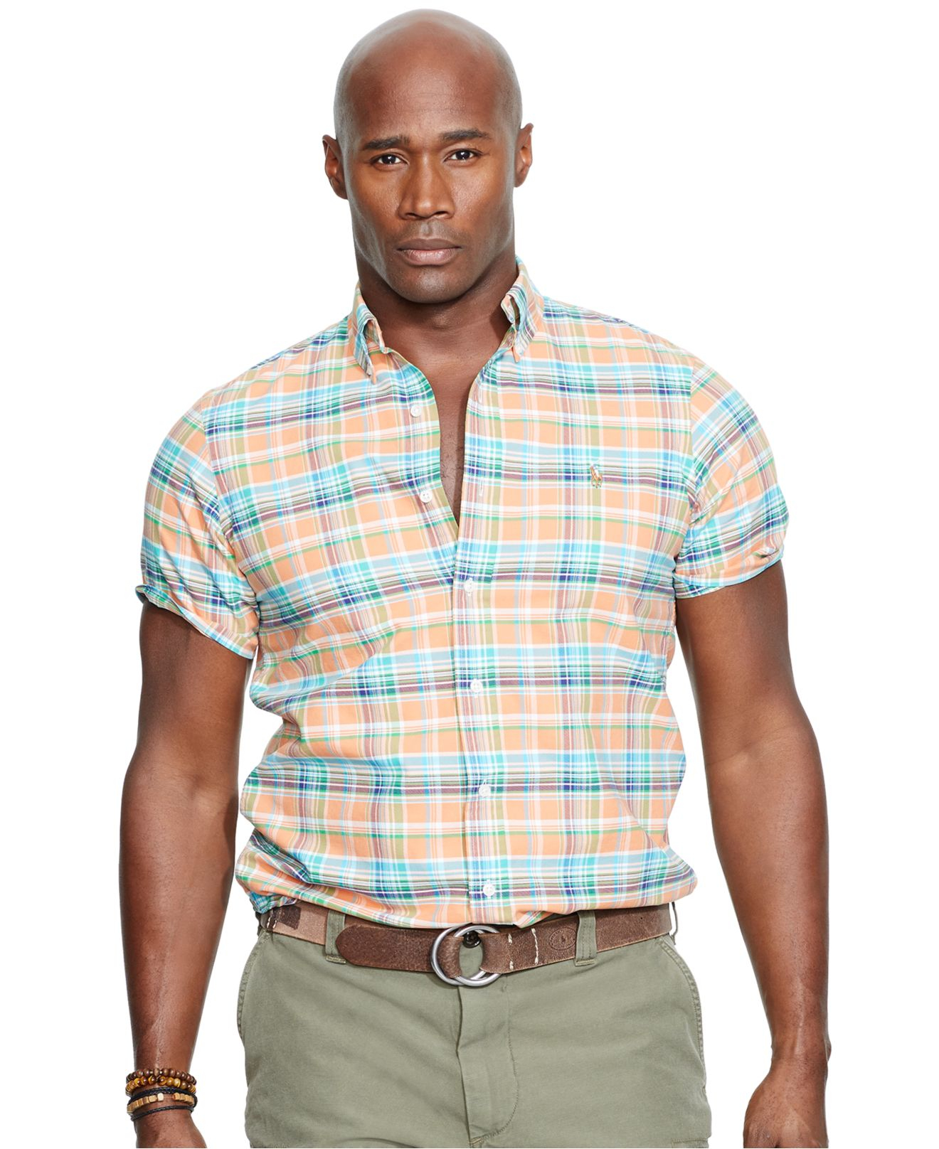 Polo Ralph Lauren Short Sleeved Mesh Men Orange