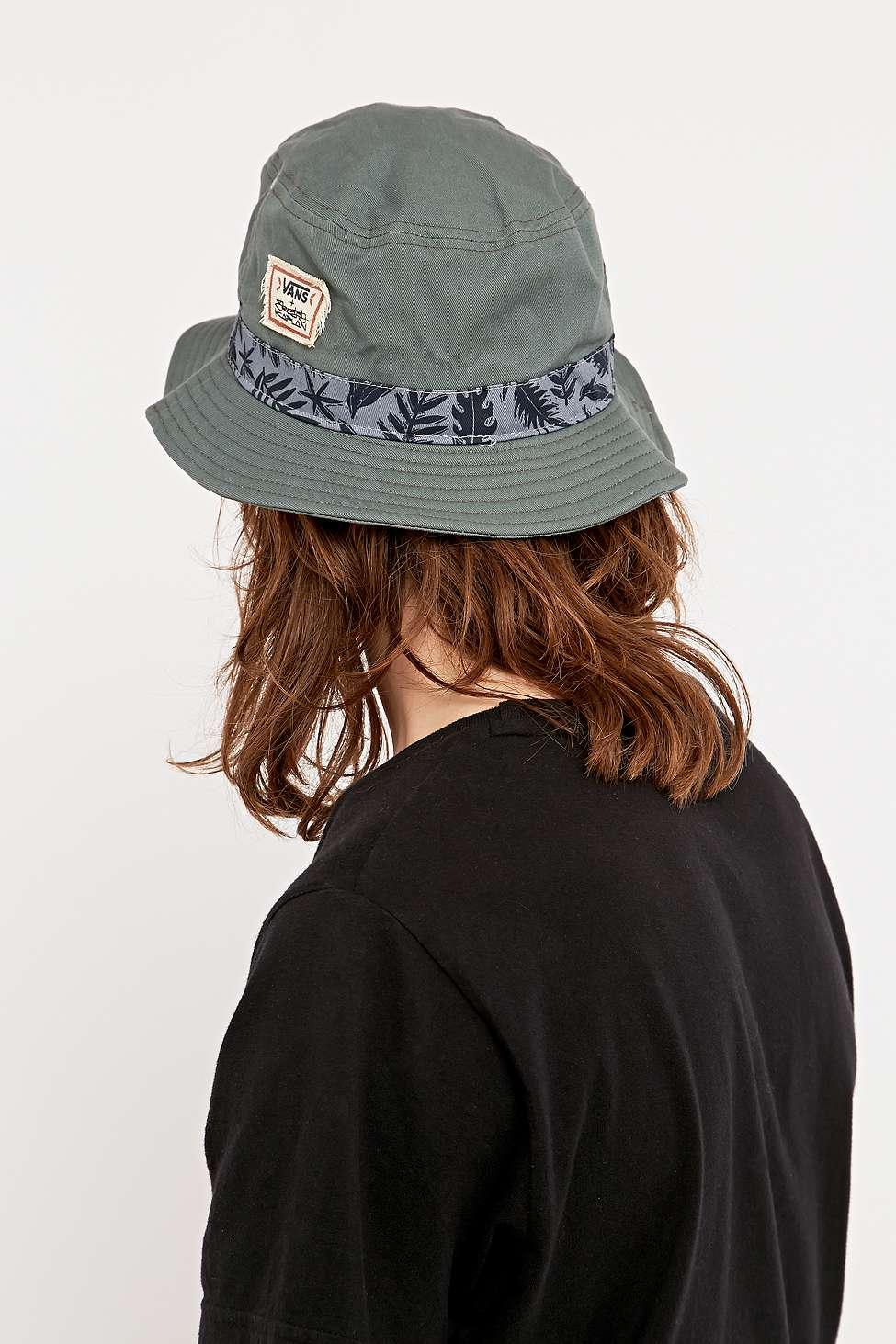 Vans Kaplan Bucket Hat In Moss in Green for Men - Lyst 41a473a6c42