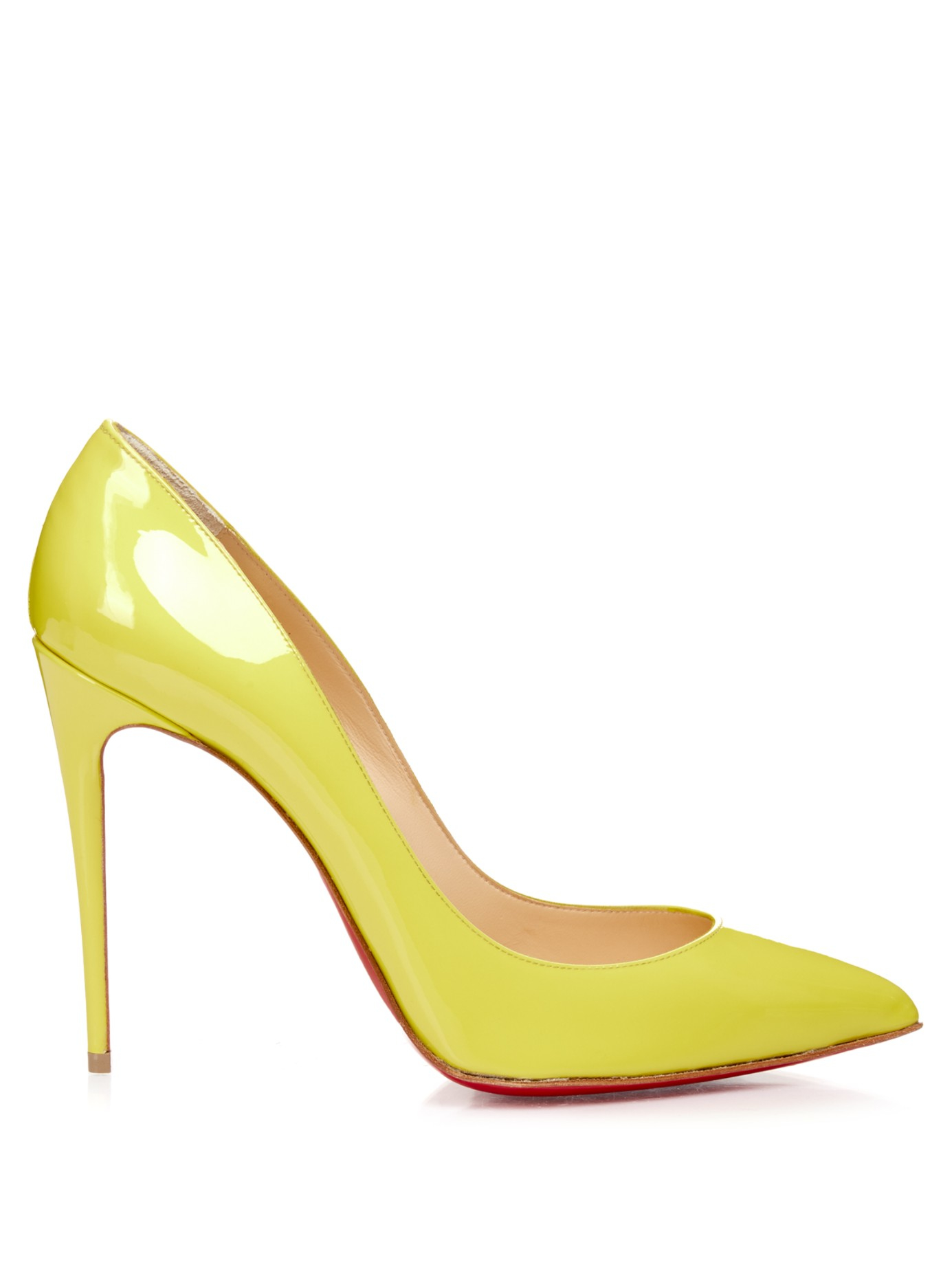 christian louboutin pigalles follies patent 100mm red sole ...