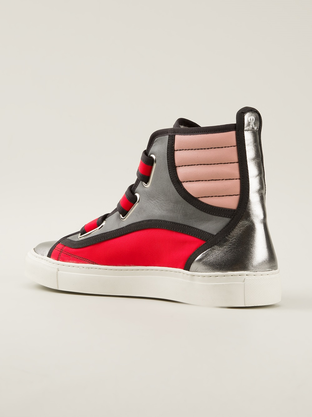 bf57eb880577 Raf simons Colour Block Hi-Top in Red for Men Lyst ...
