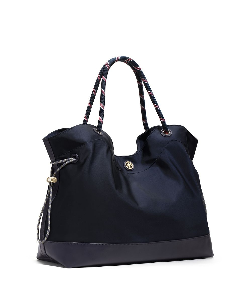Lyst - Tory Burch Nylon Cinched Tote in Blue 20dc03251
