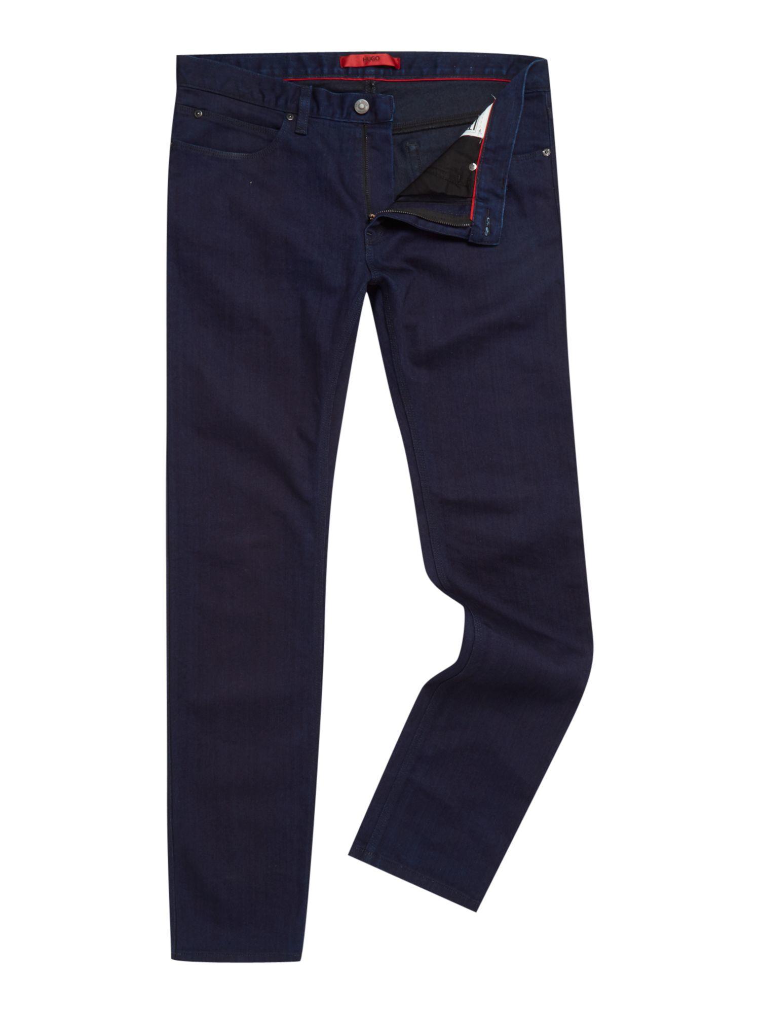 hugo 708 slim fit jeans in blue for men lyst. Black Bedroom Furniture Sets. Home Design Ideas