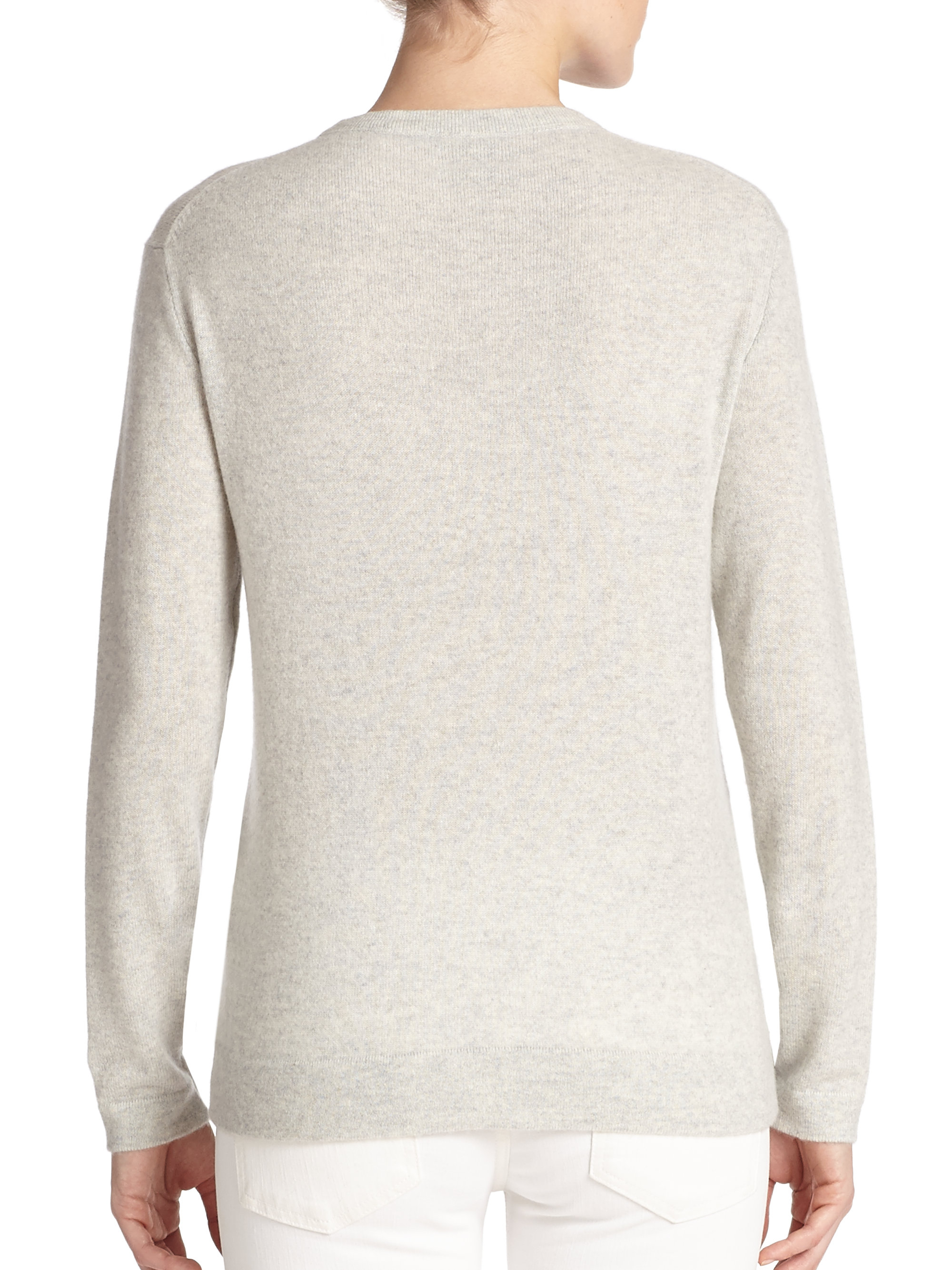 434118ed0595 Lyst - Polo Ralph Lauren Cashmere Crewneck Sweater in Gray