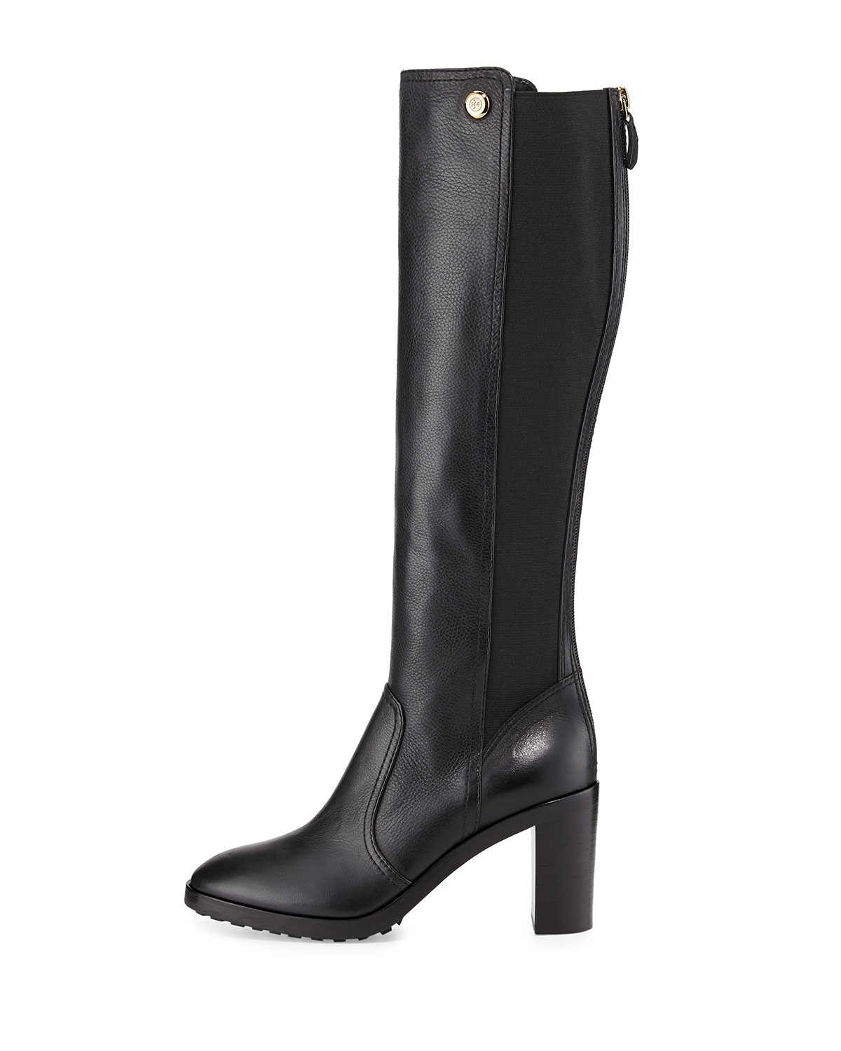 1359993314be Lyst - Tory Burch Sullivan Stretch-back Knee Boot in Black