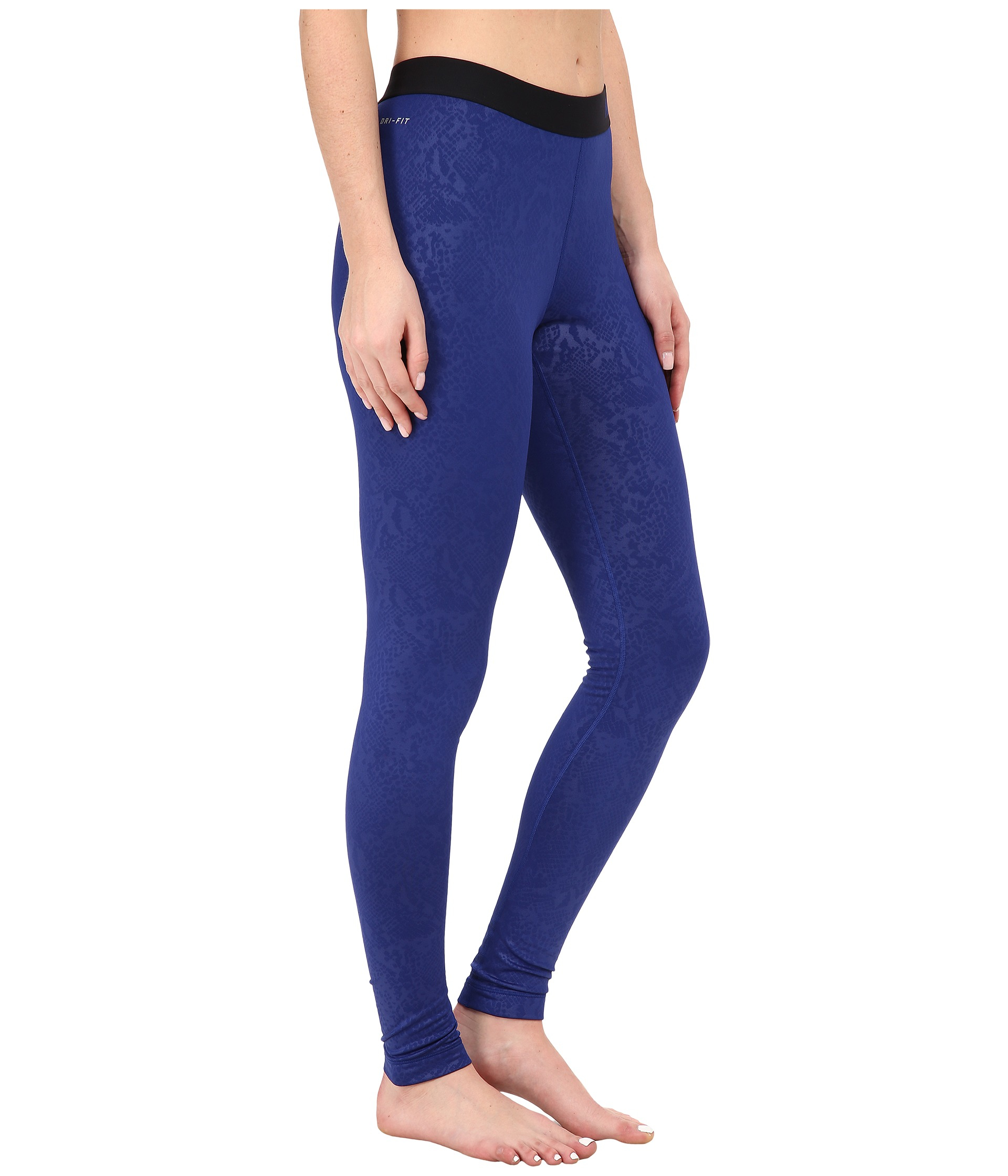 30db4f573ae178 Nike Pro Warm Embossed Vixen Tights in Blue - Lyst