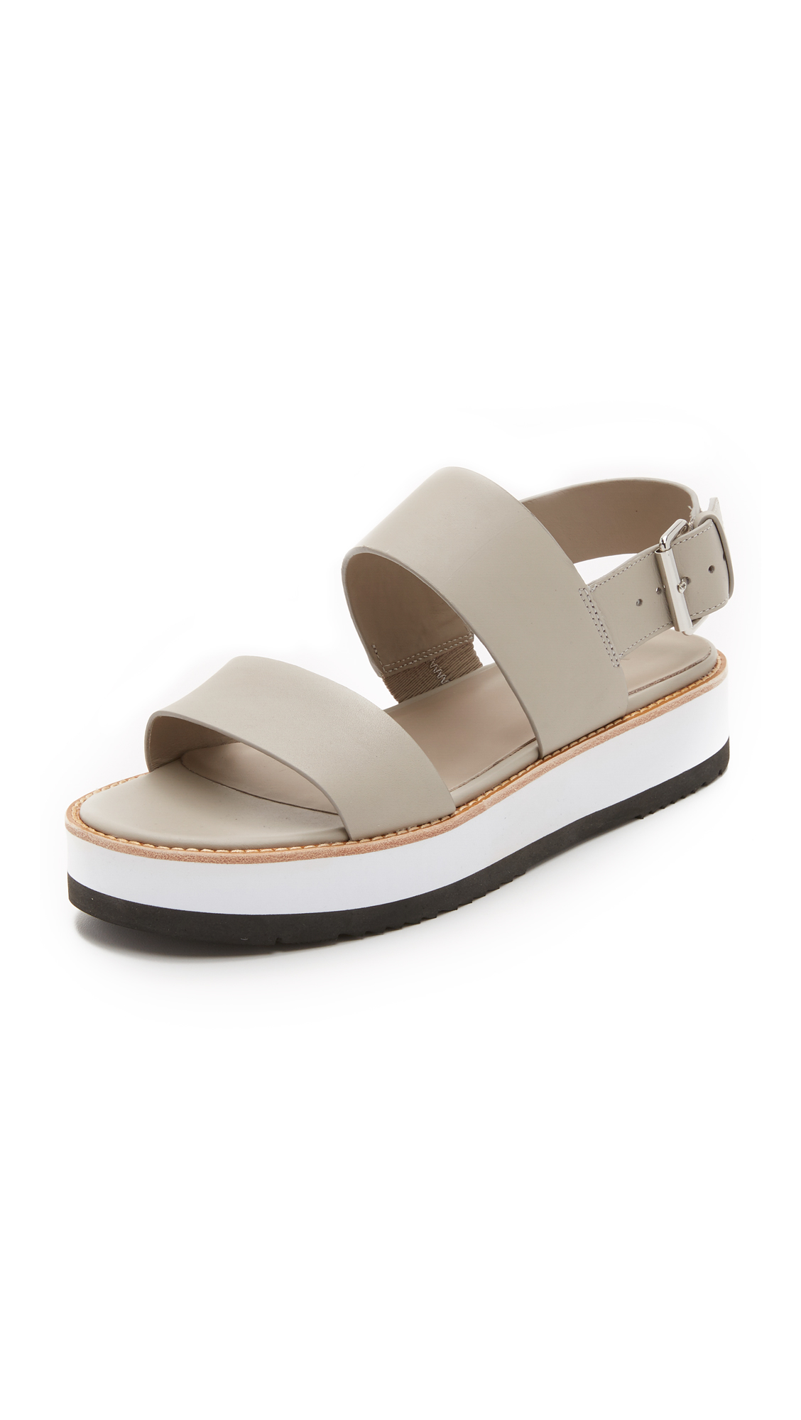 905d969d5a9 Lyst - Vince Mana Flatform Sandals in Natural