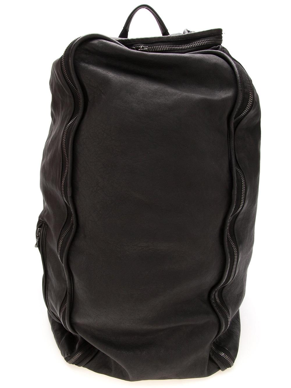 Lyst Julius Distressed Backpack In Black For Men