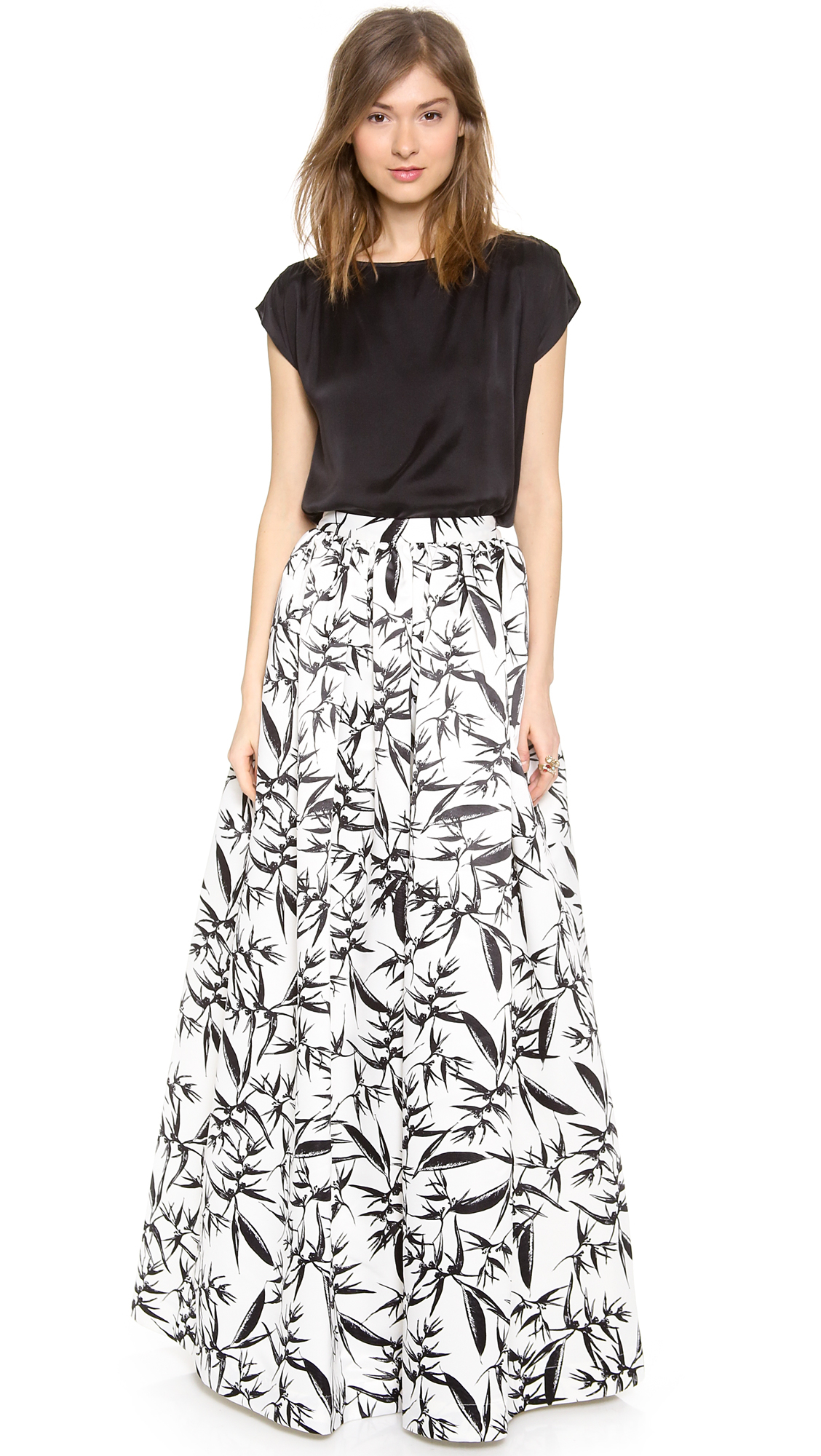 Alice   olivia Alice Olivia Abaella Long Ball Gown Skirt in Black ...