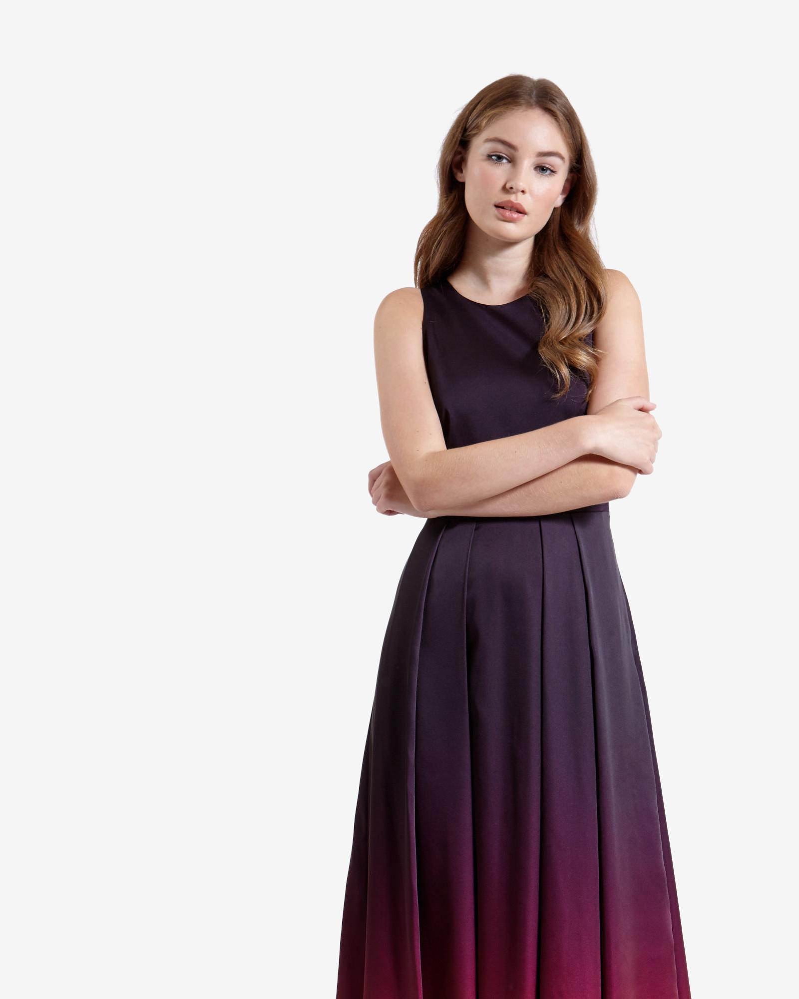 Ted baker london halter maxi dress