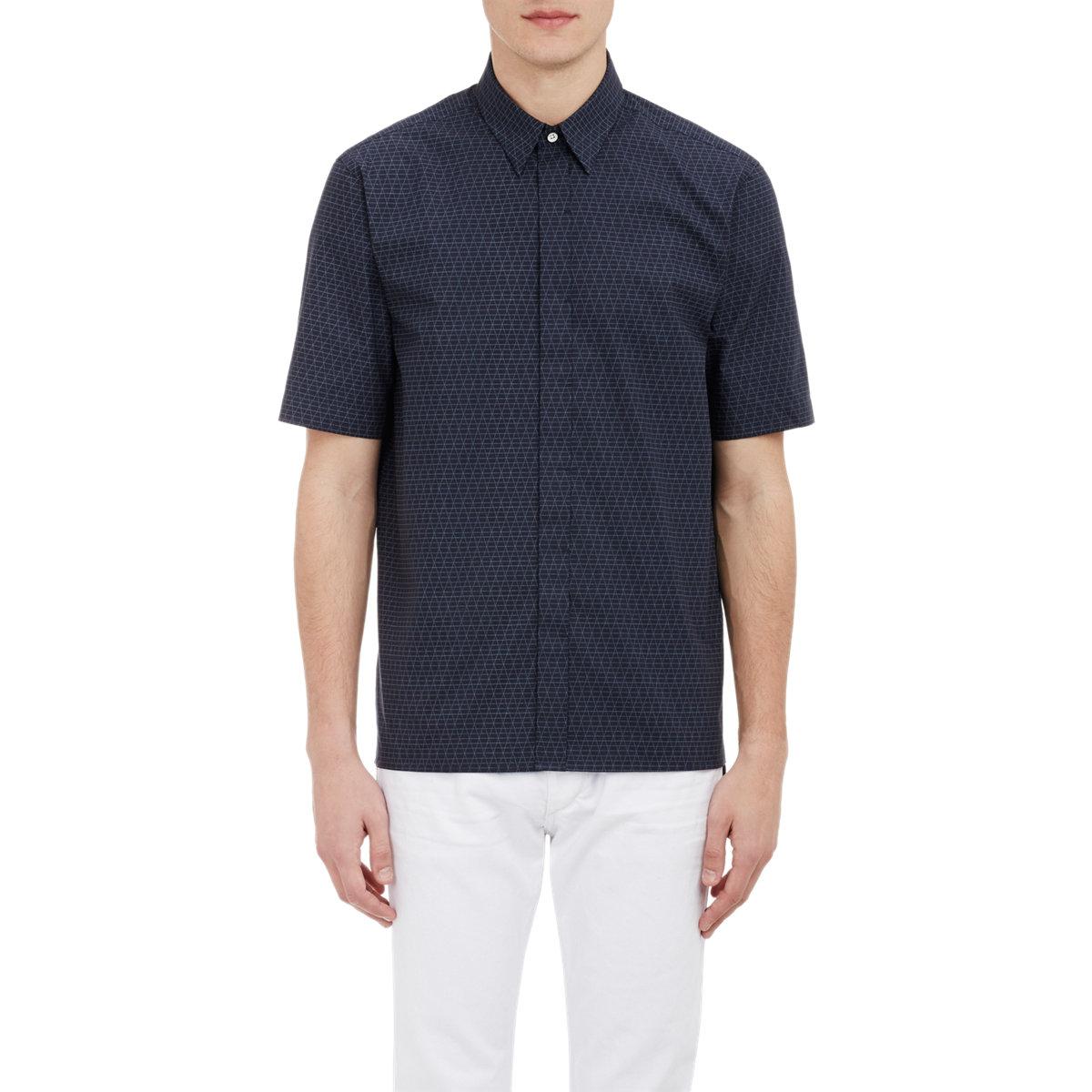 Rag Bone Casper Shirt Blue Size Xl In Blue For Men Lyst
