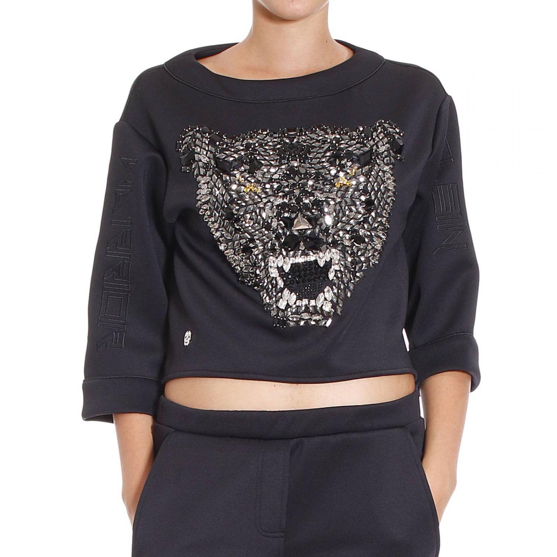philipp plein sweater in black lyst. Black Bedroom Furniture Sets. Home Design Ideas