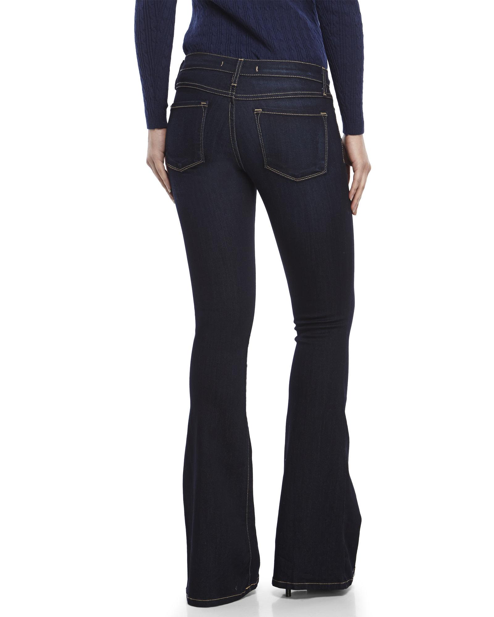 Flying monkey Dark Wash Flare Jeans in Blue   Lyst