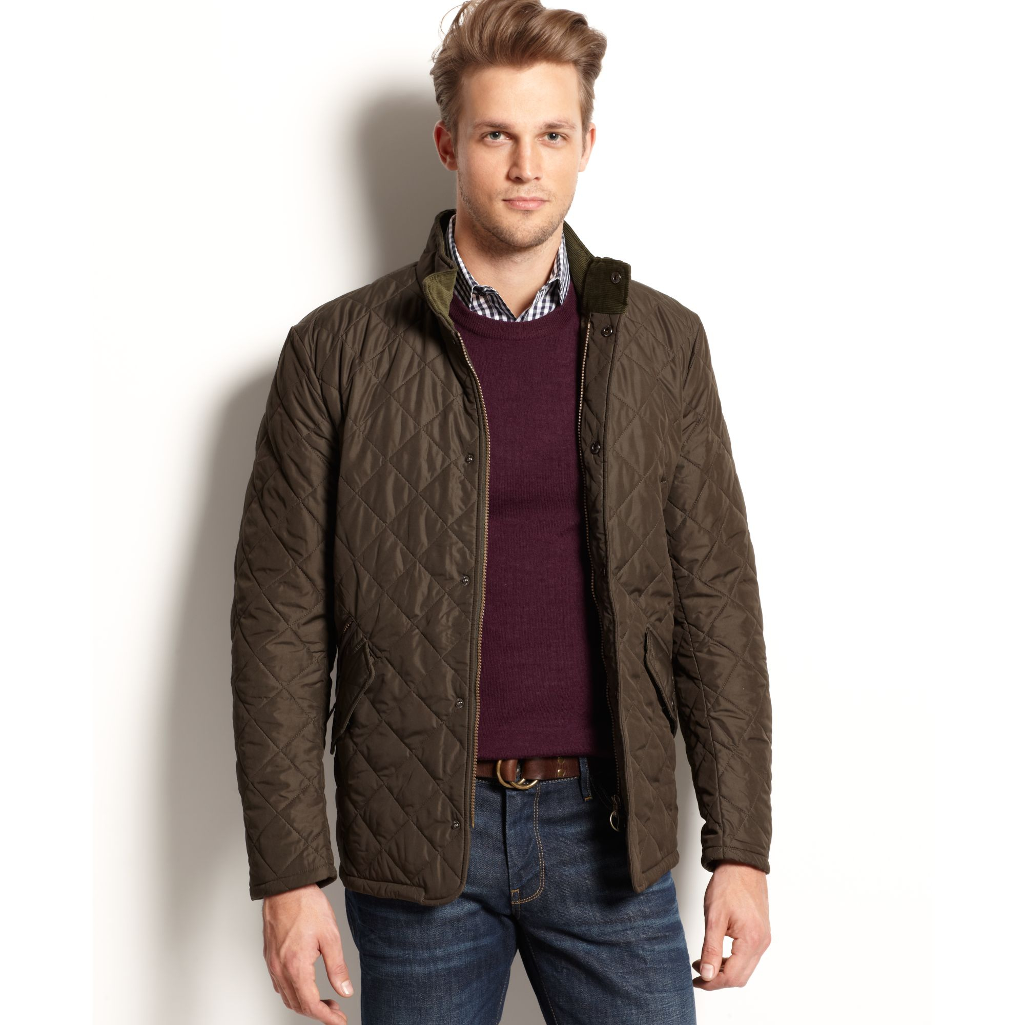 Lyst Barbour Chelsea Sport Quilted Jacket In Green For Men