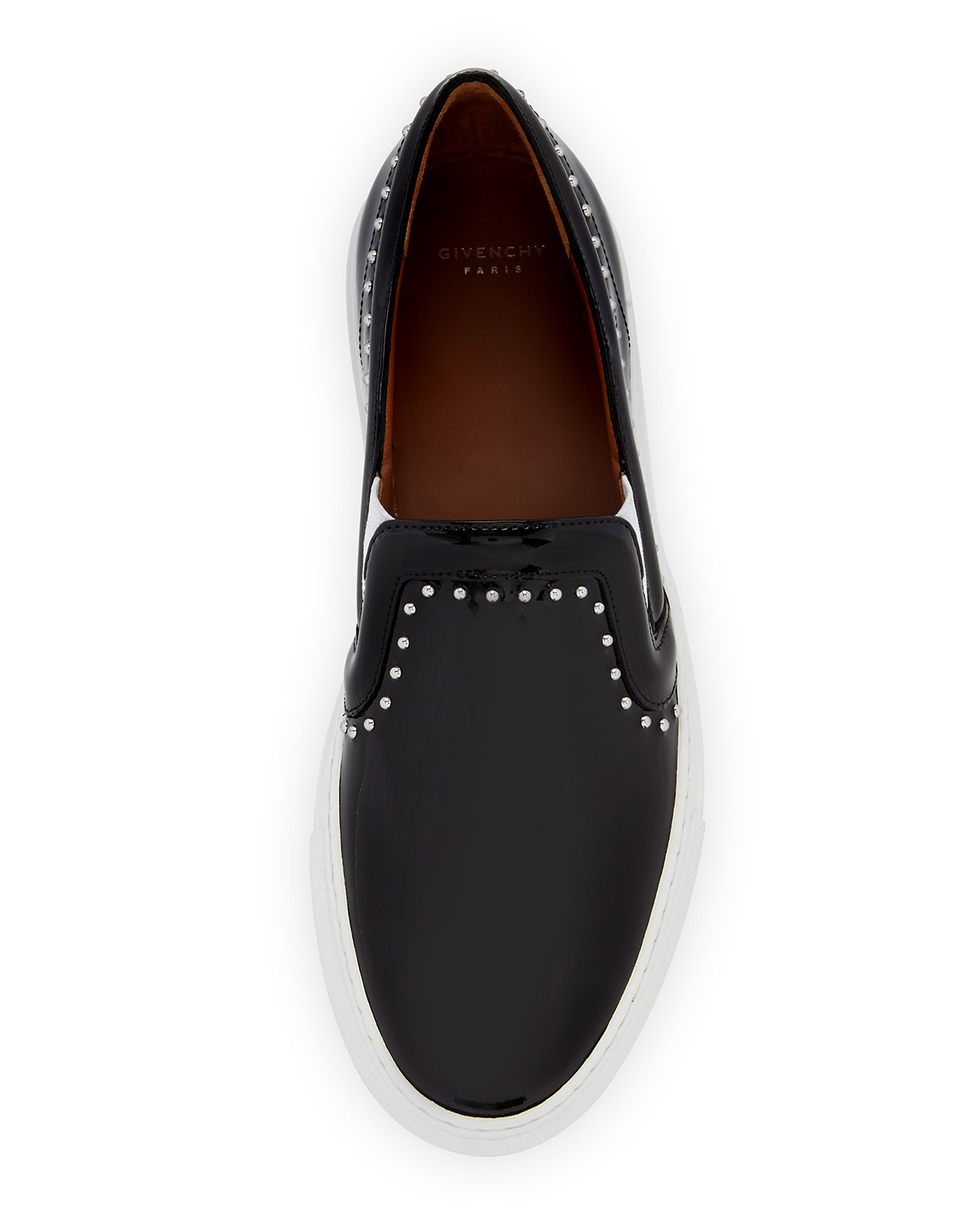 replica shoes men - Givenchy Studded Patent Leather Skate Shoe in Black | Lyst