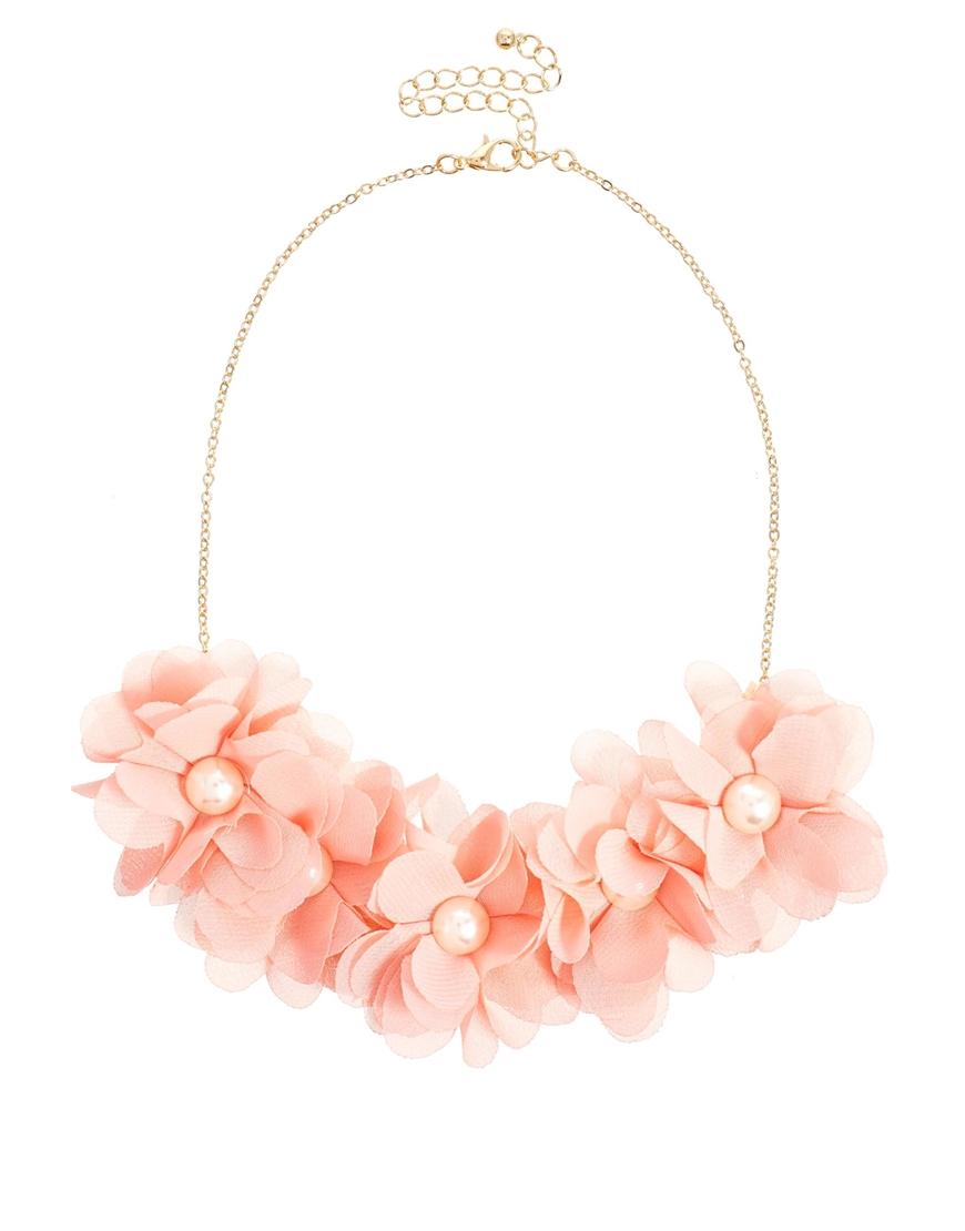 Pink Flower Necklace River Island
