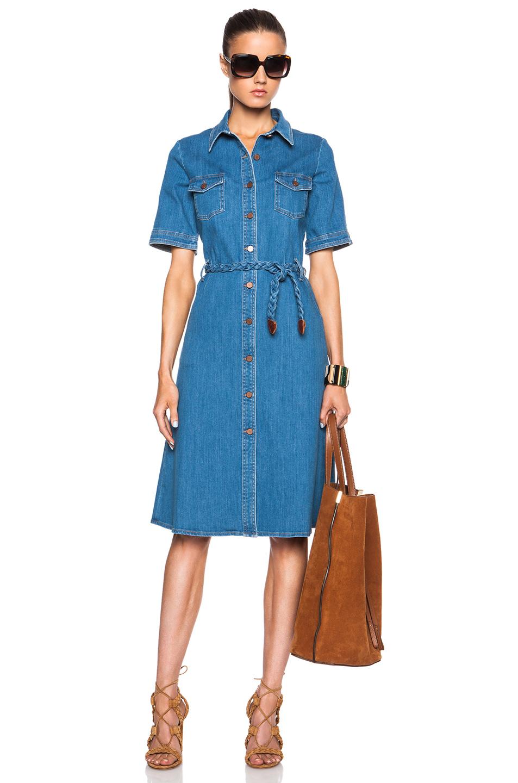 512b7fd54f7 Lyst - M.i.h Jeans 70 S Denim Dress in Blue