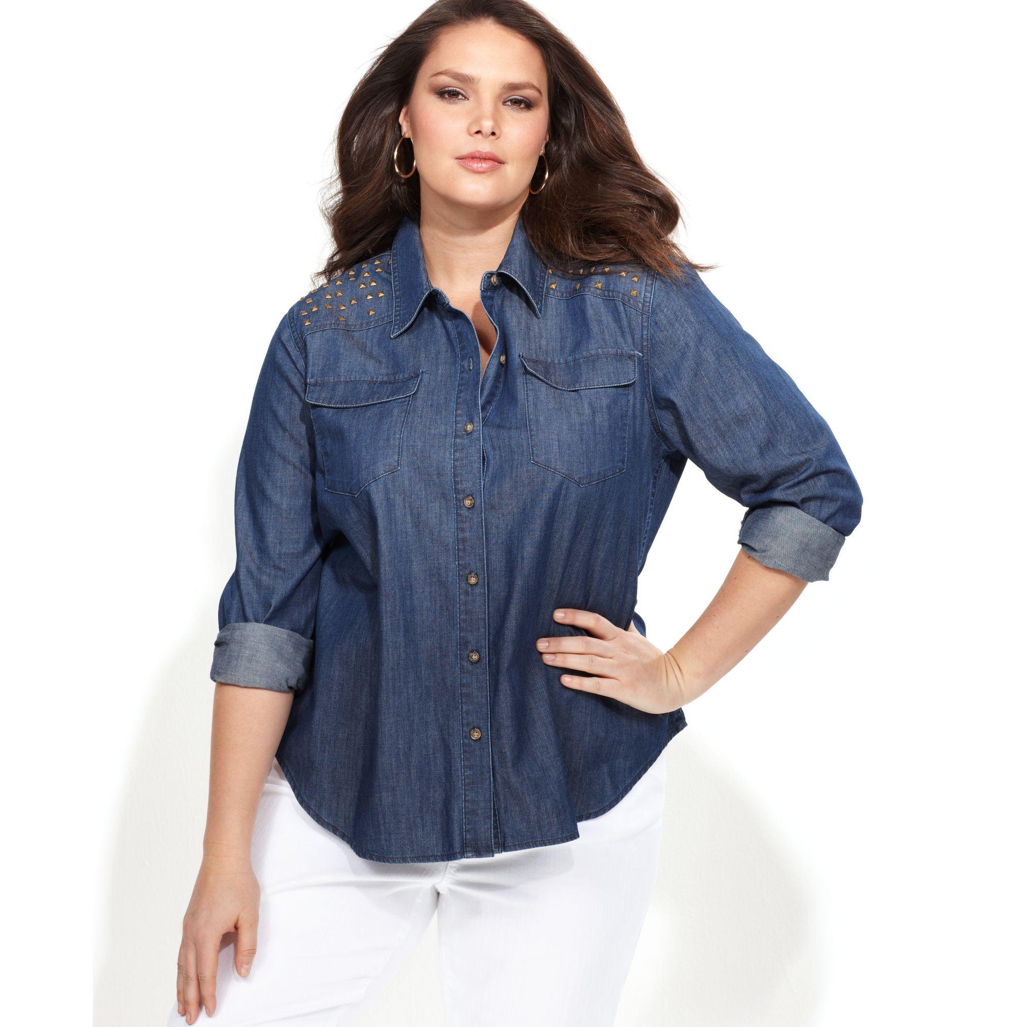 inc international concepts plus size shirt longsleeve