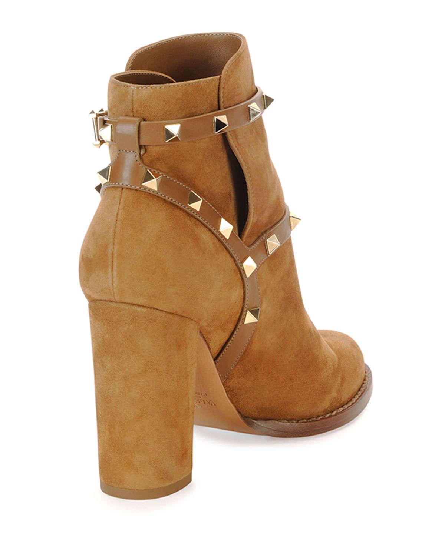 Tan Chunky Heel Boots