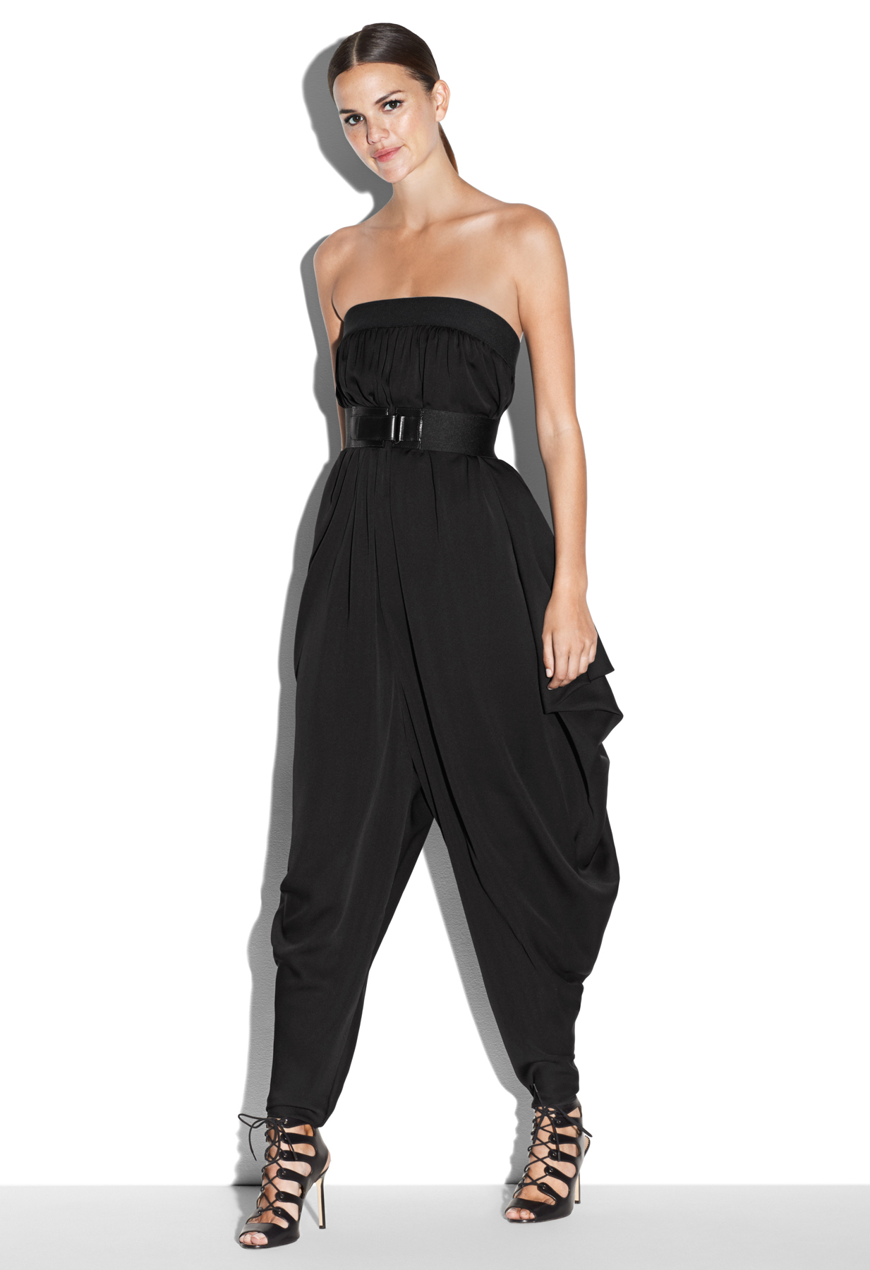 Lyst - Milly Strapless Isosceles Jumpsuit in Black