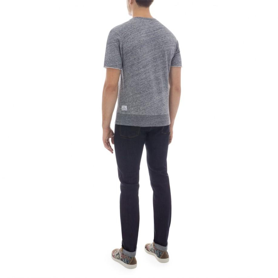 Paul smith Men's Grey Marl Loopback-cotton Short-sleeve Sweatshirt ...