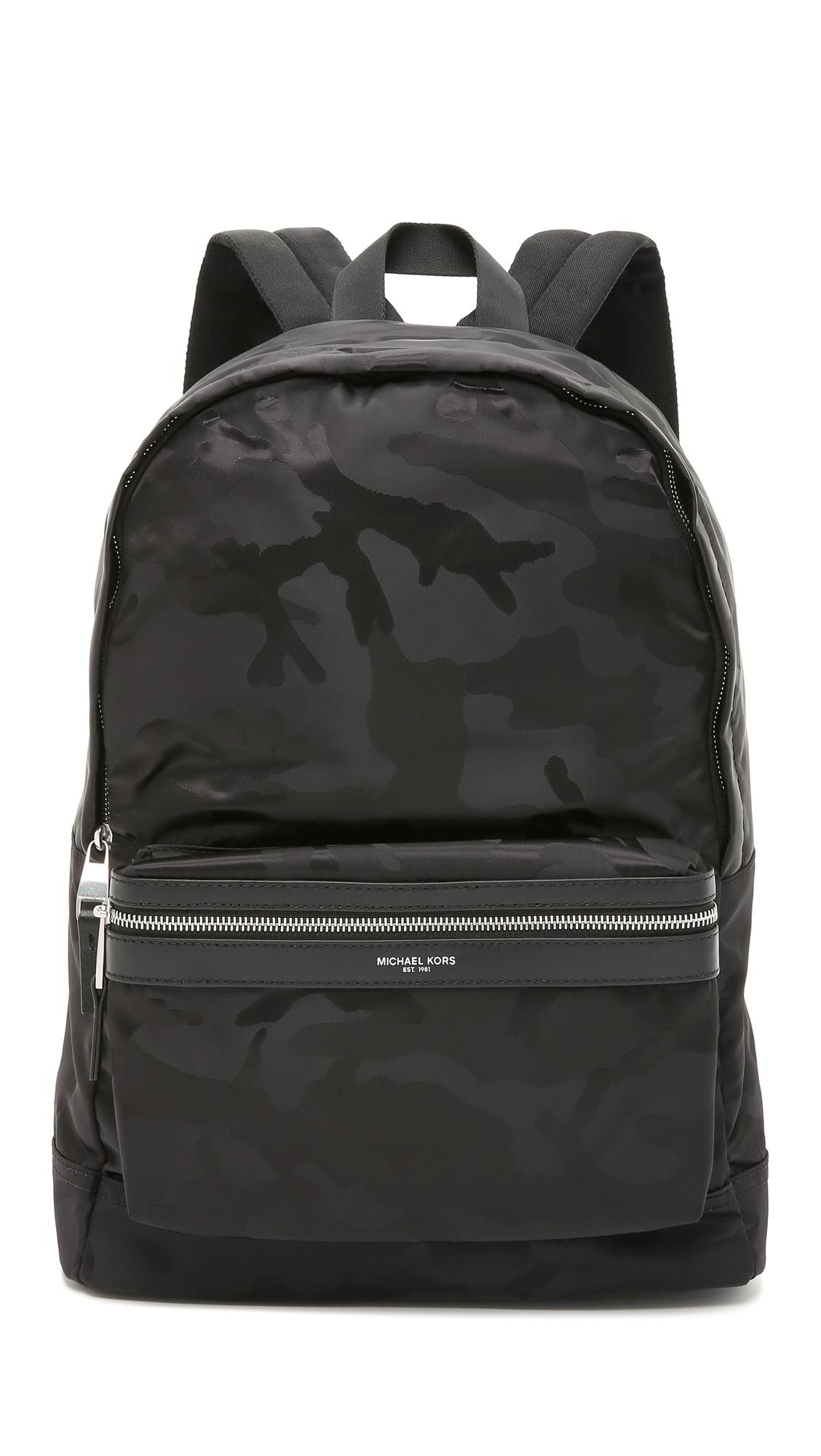 3f19fac498 Lyst - Michael Kors Kent Camo Nylon Backpack in Black for Men