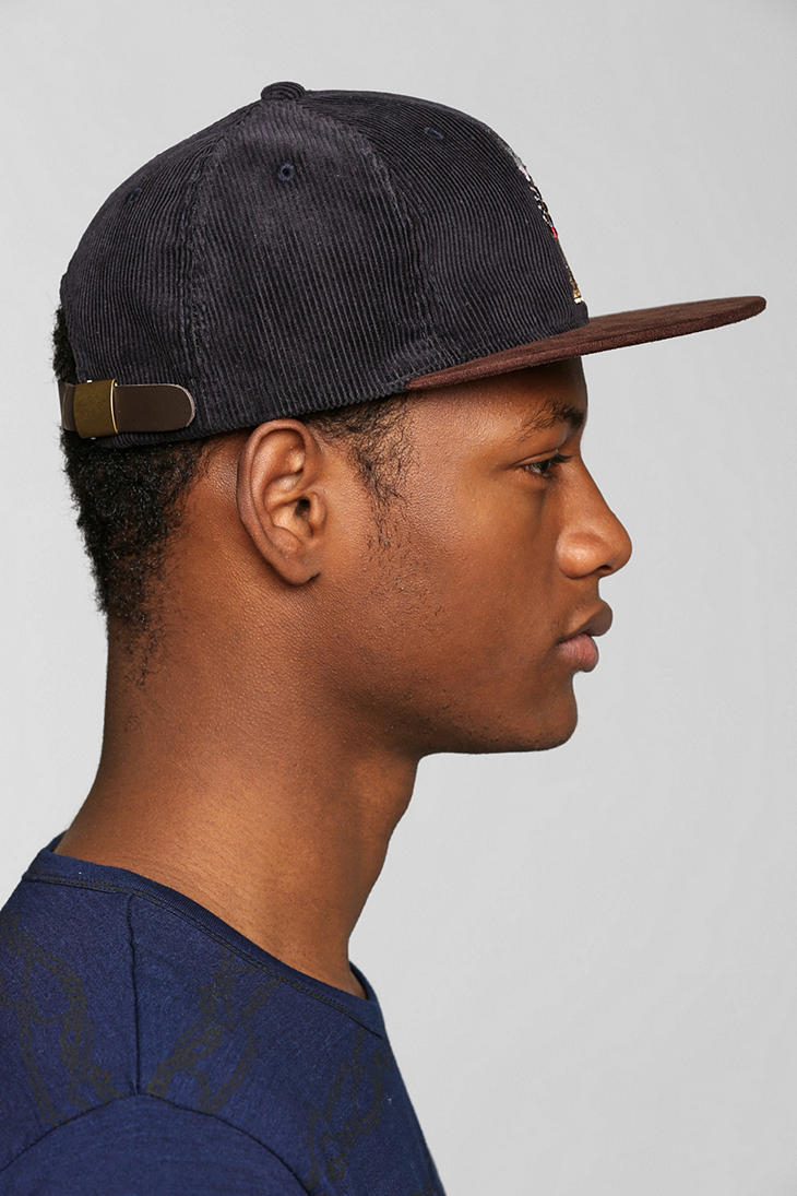 931d6bc854d Lyst - Urban Outfitters Stussy Rat Corduroy Snapback Hat in Blue for Men
