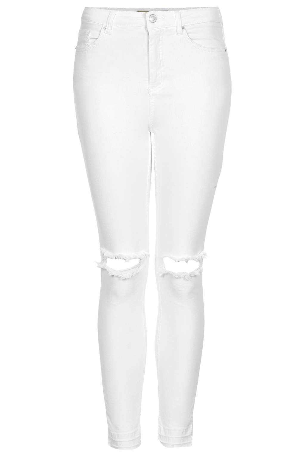 d16c1d11791 TOPSHOP Moto White Ripped Jamie Jeans in White - Lyst