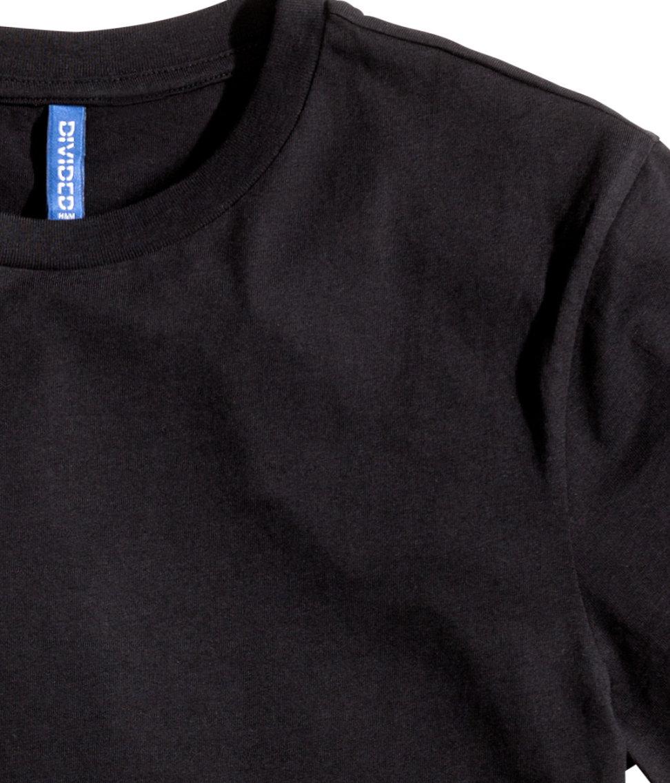 H&m Basic T-Shirt in Black for Men | Lyst