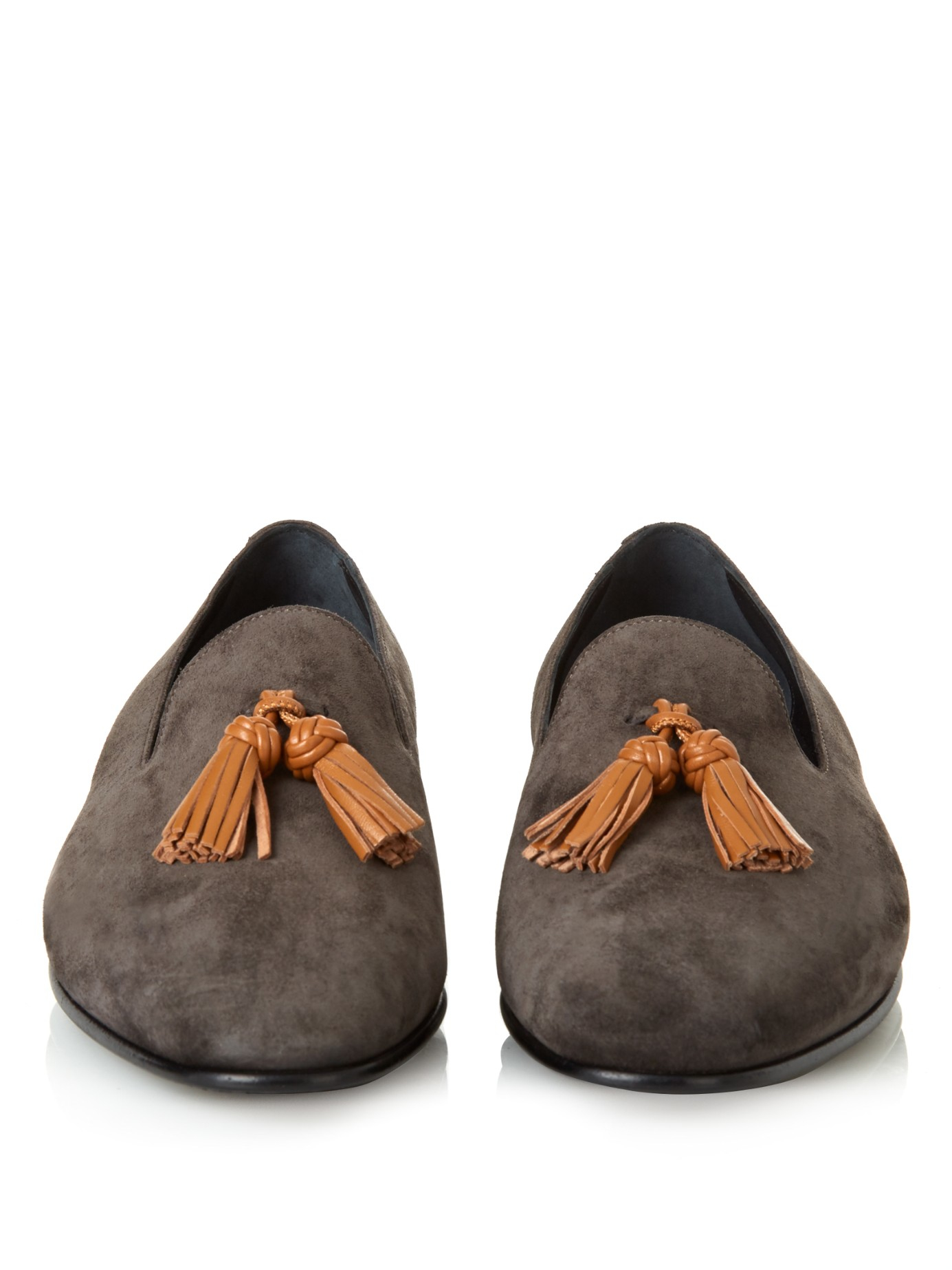 John Lobb Shoes >> Lyst - Burberry Prorsum Lewis Suede Loafers in Gray for Men