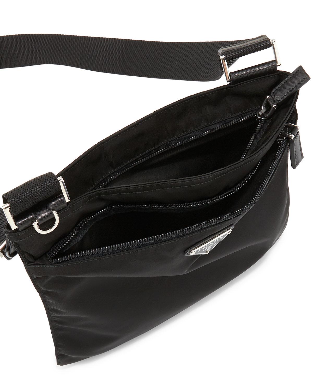 Lyst - Prada Vela Flat Crossbody Bag in Black fc602523817dd