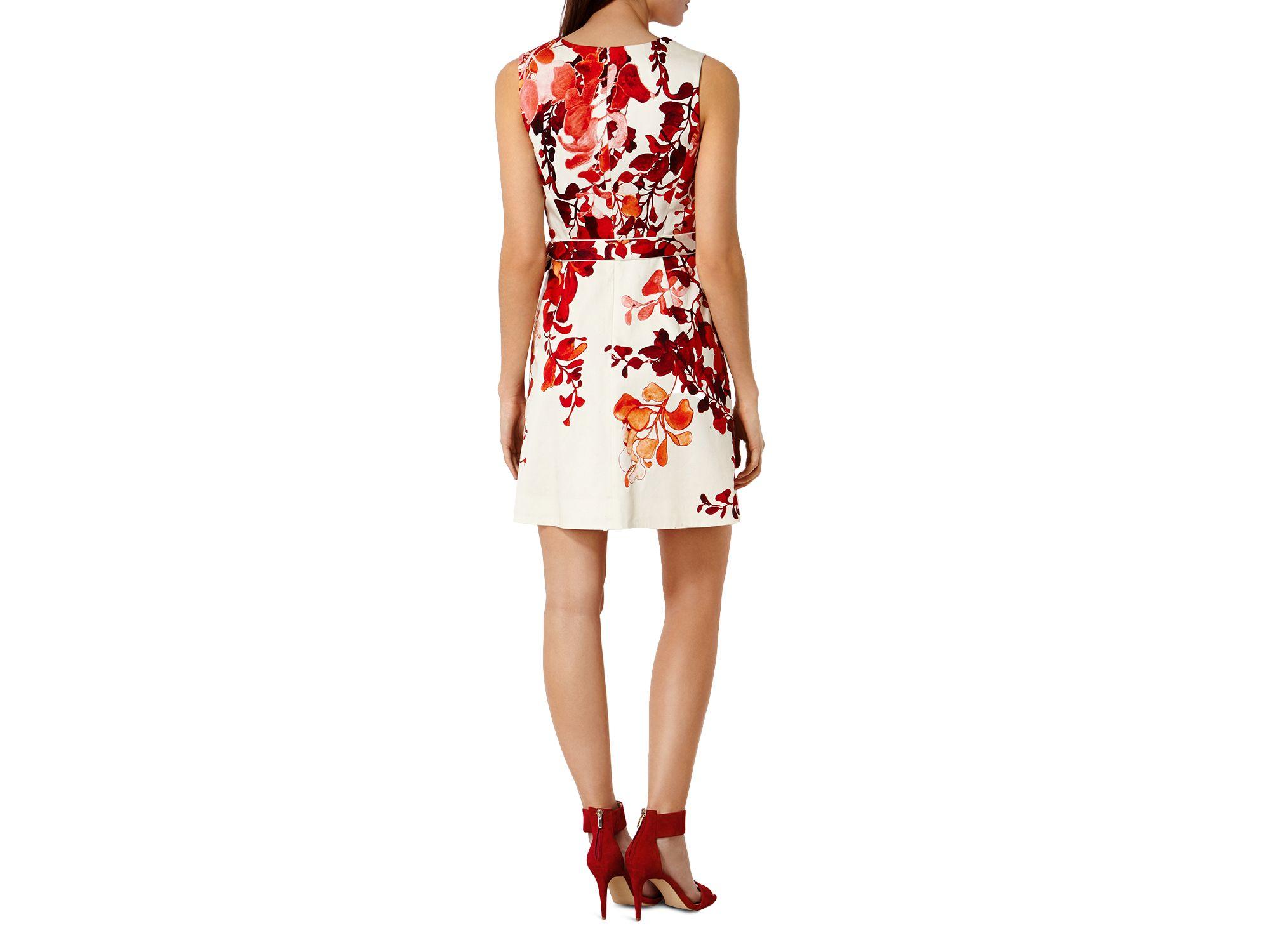 cd02f60edf Lyst - Karen Millen Spice Wisteria Print Dress