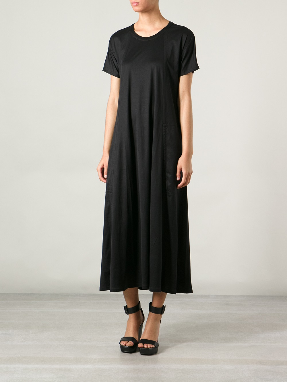 Jersey Draped Oversize Black In Lemaire Dress Christophe Lyst qZtFwIx
