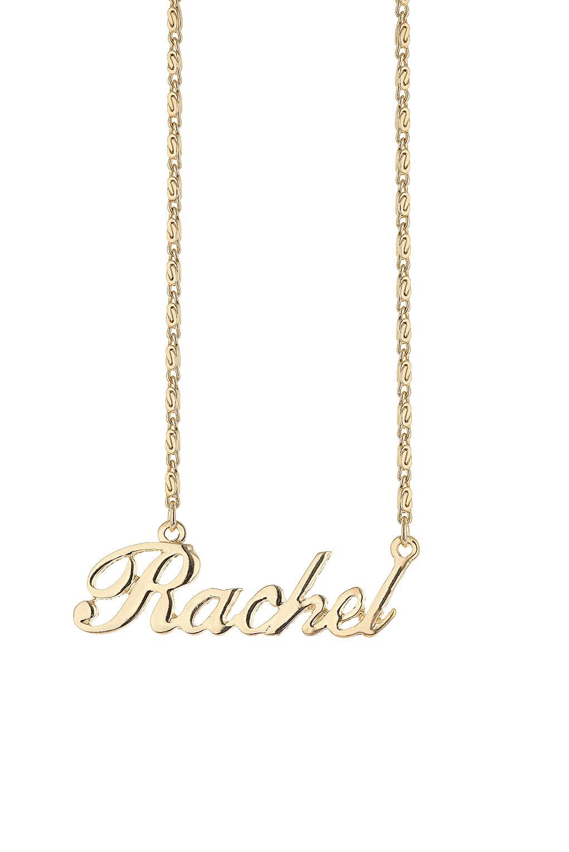 lyst topshop rachel name necklace in metallic