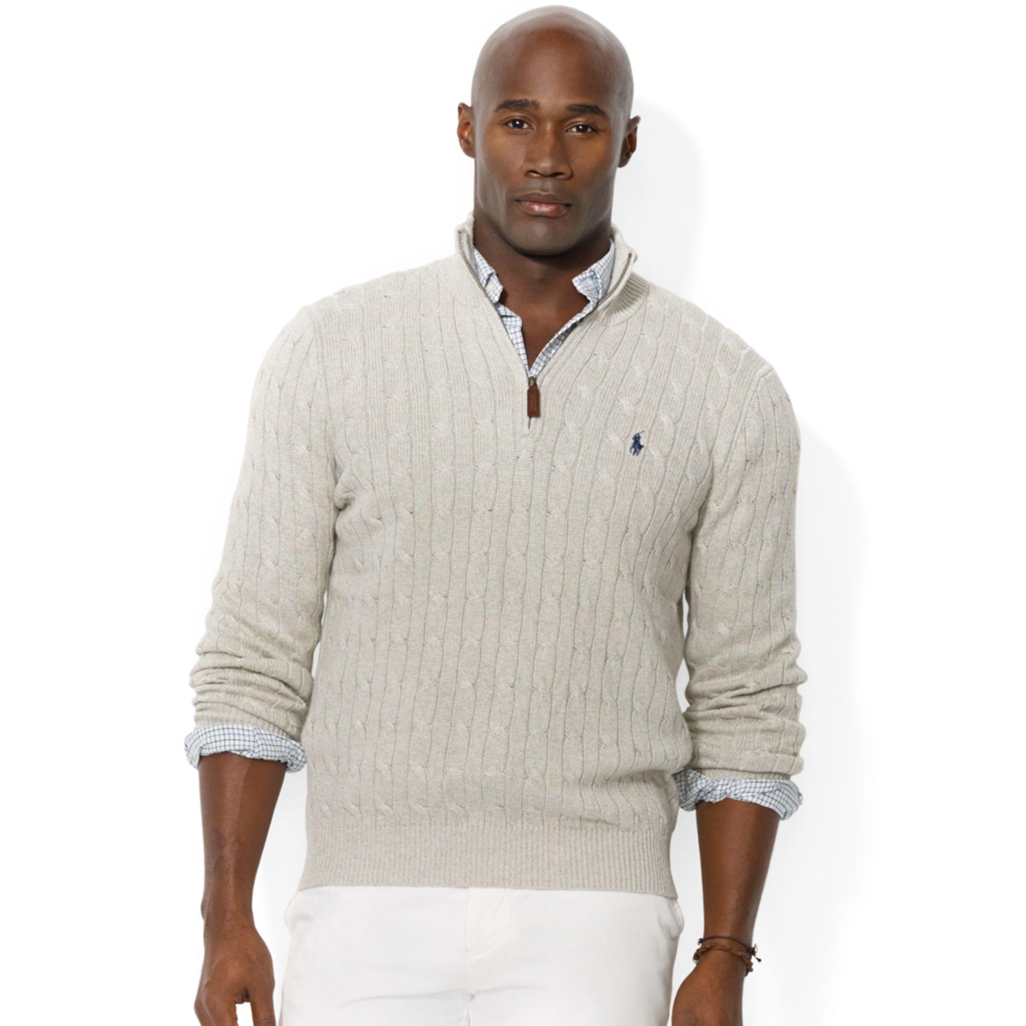 Polo Ralph Lauren Mens Long Sleeve Half Zip Knit Sweater Ralph
