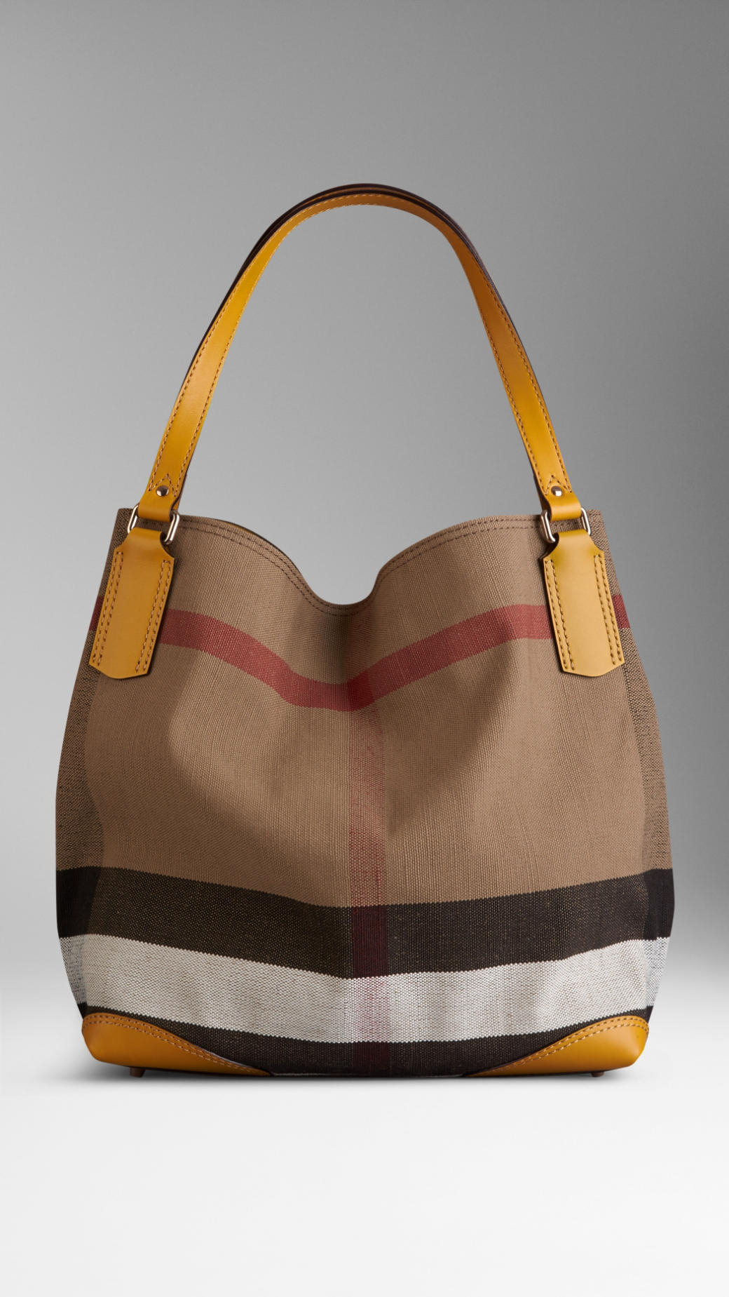 5b6ef6d189f7 Lyst - Burberry Medium Canvas Check Tote Bag in Yellow