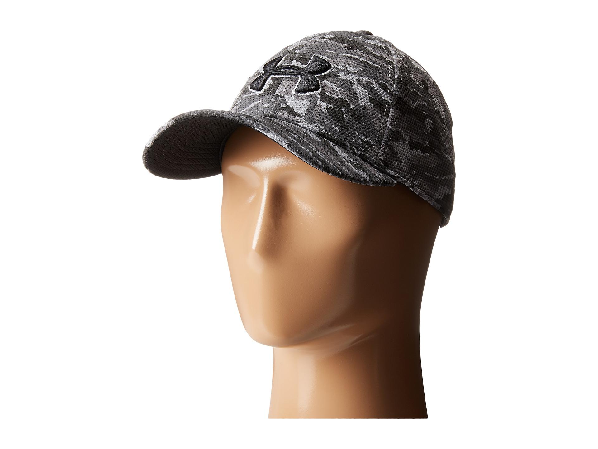 1499e38586d Lyst - Under Armour Ua Print Blitzing Stretch Fit Cap in Black for Men