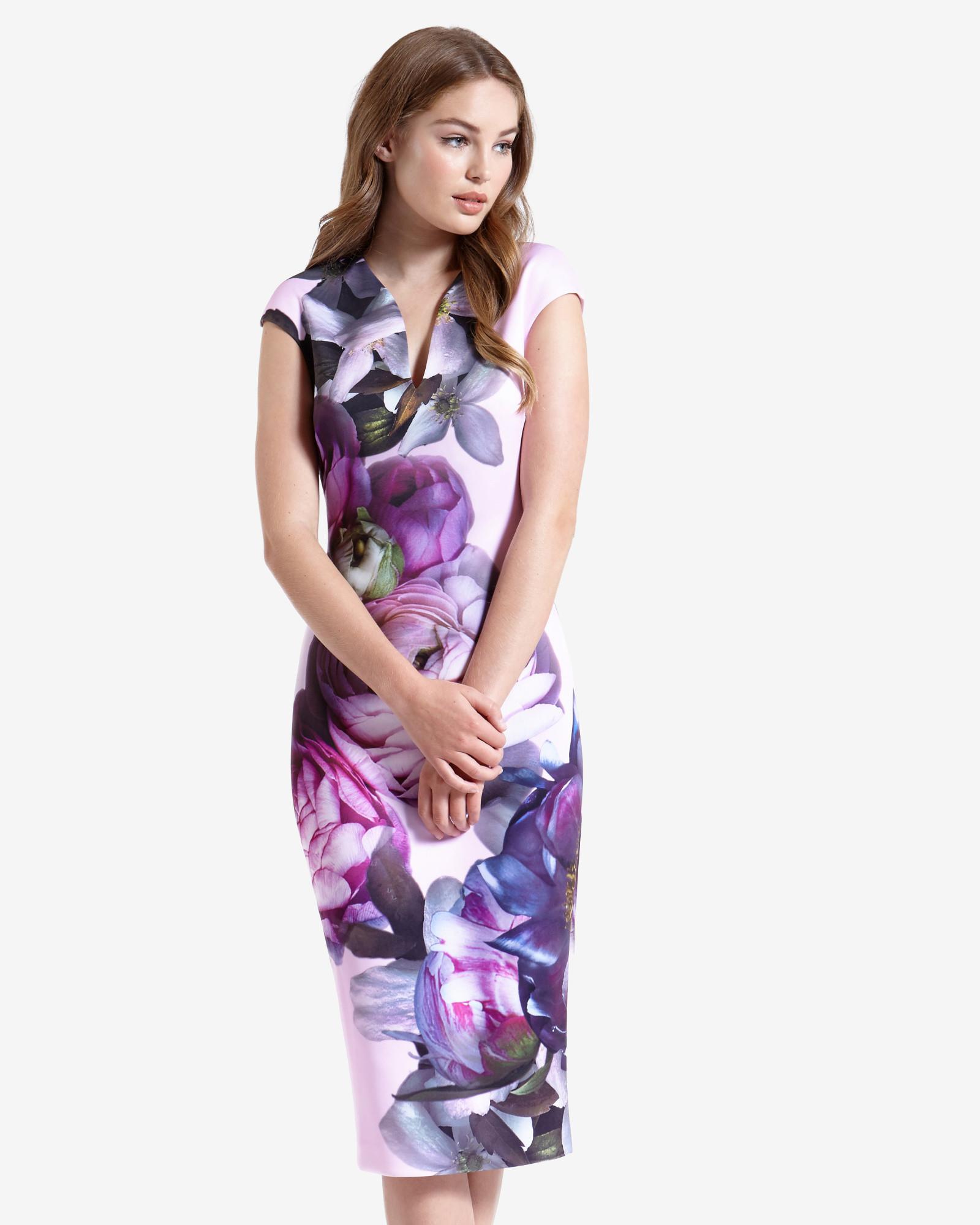 Plunging V Neck Dress