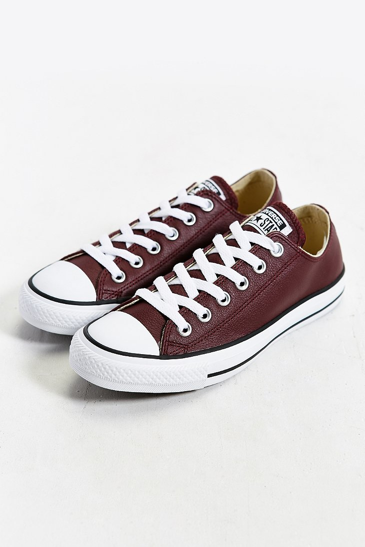 converse chuck taylor all star leather low top sneaker in. Black Bedroom Furniture Sets. Home Design Ideas