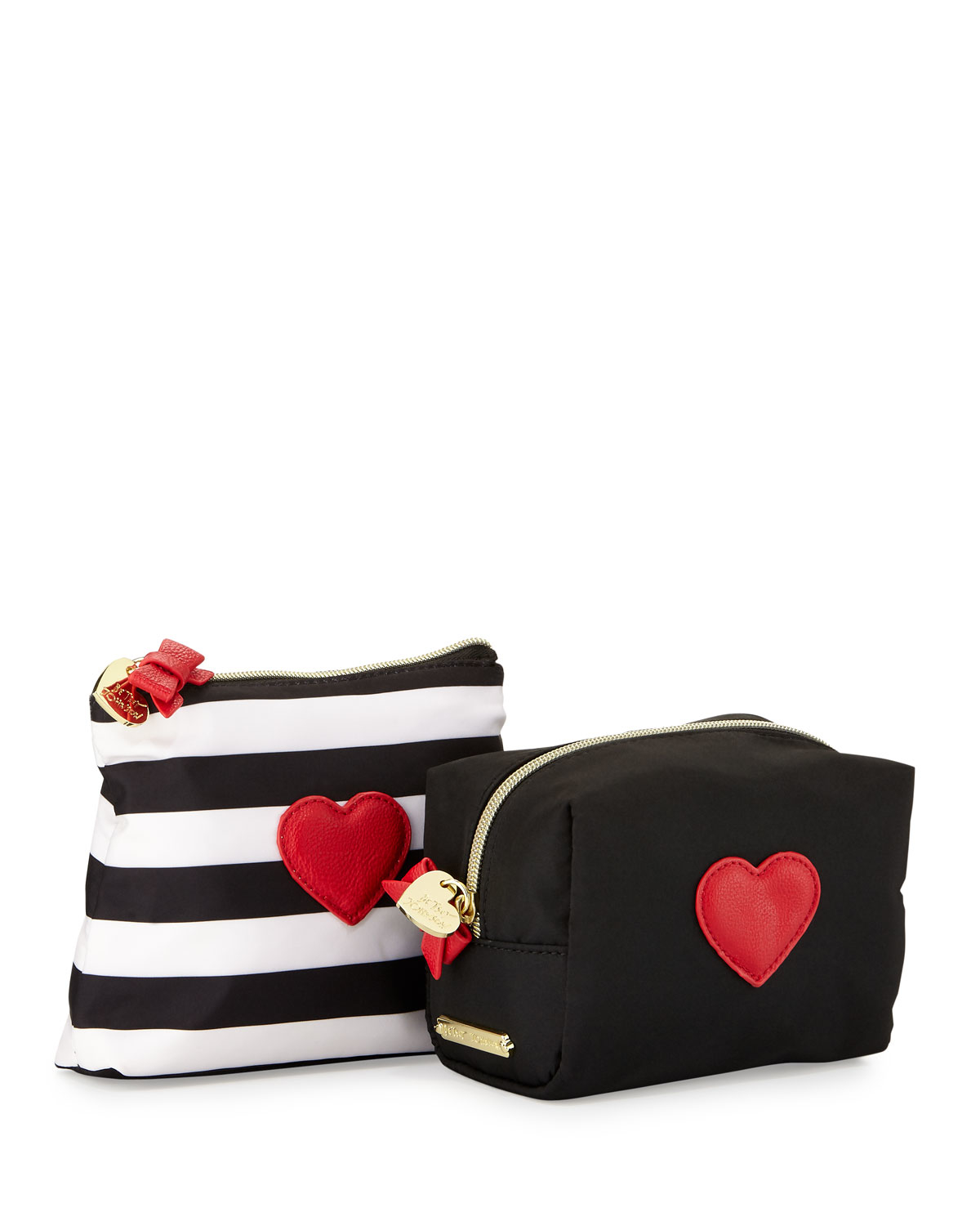 Travel In Style With Betsey Johnson Cosmetic Make Up Bag Large Case Measures 8 5 Long