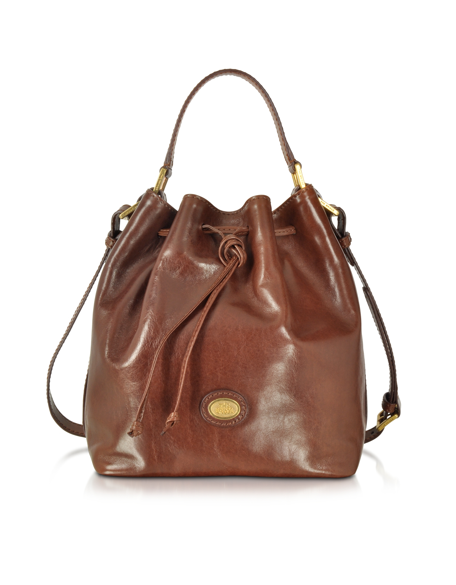6738fe4dcbc ... hot new products e6115 5527e Lyst - The Bridge Dark Brown Leather  Bucket Bag in Brown ...
