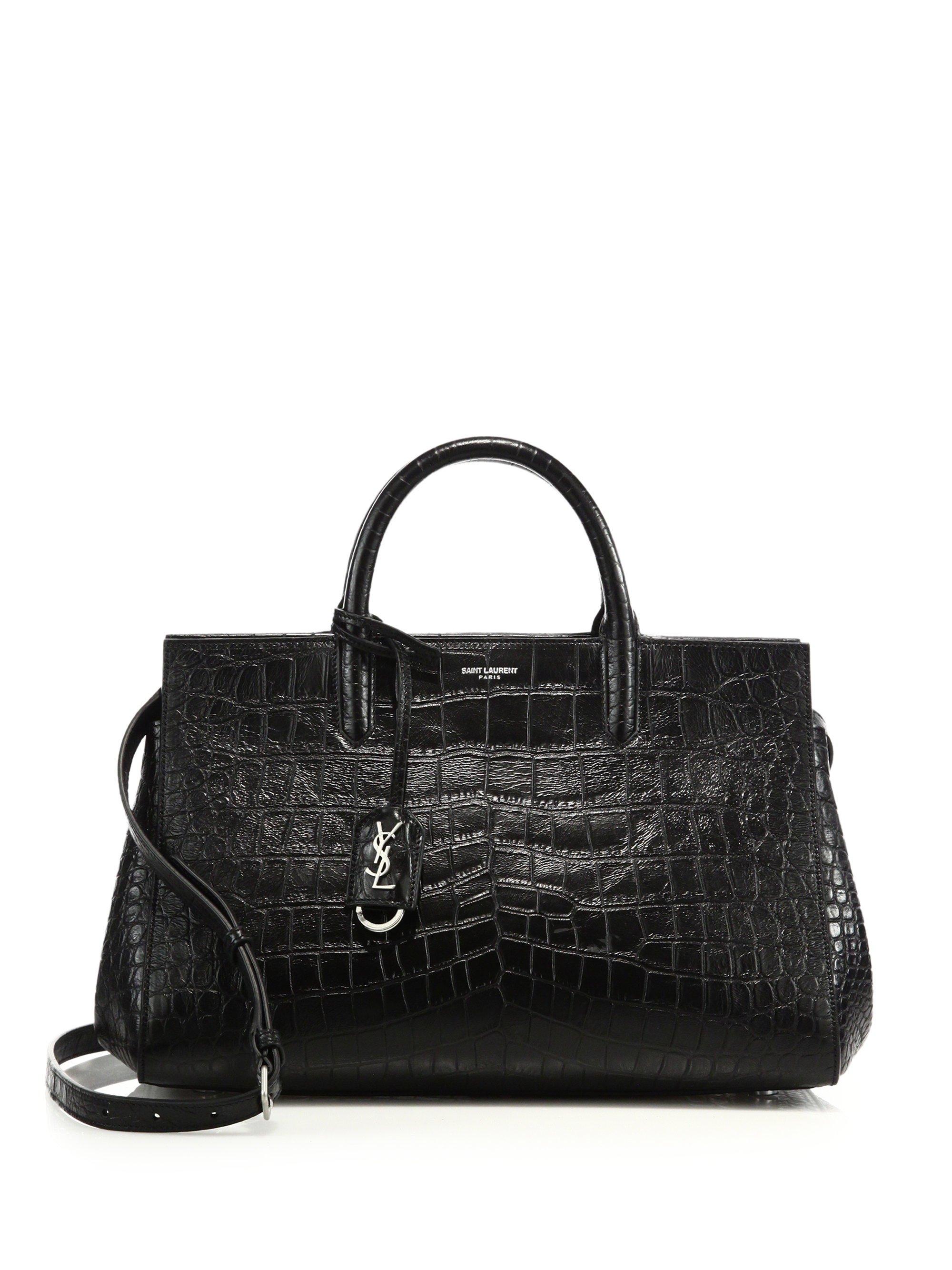 ysl diaper bag - Saint laurent Monogram Cabas Small Crocodile-embossed Leather ...