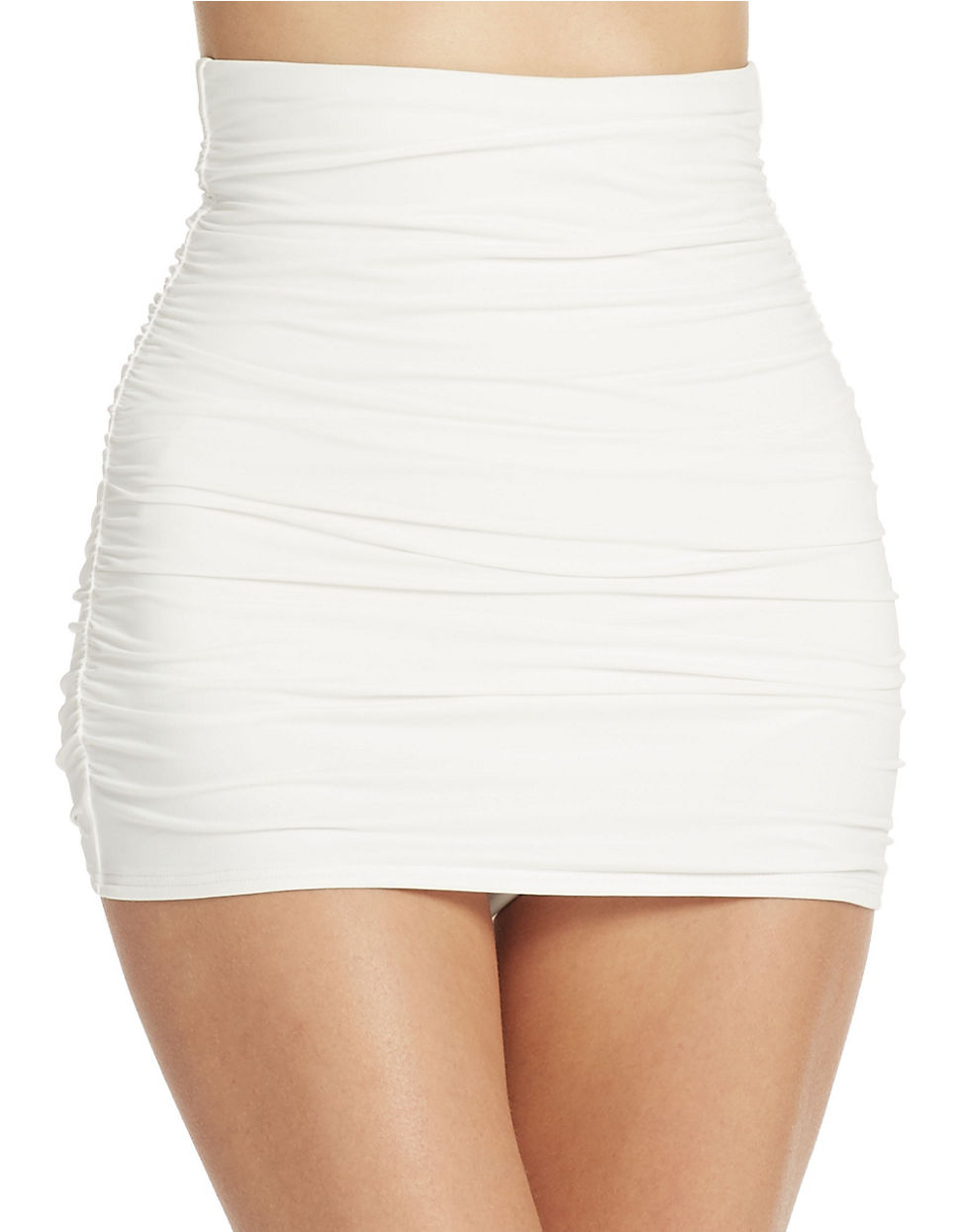 dkny sculpt high waisted shirred skirted