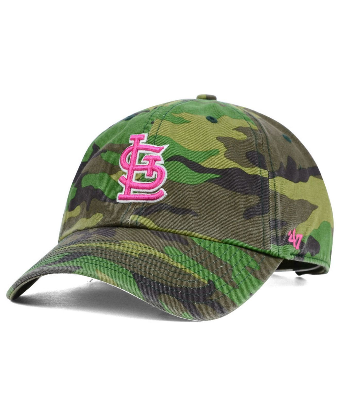 online store fca8c 04404 ... reduced lyst 47 brand womens st. louis cardinals clean up cap in green  5f520 0cd32