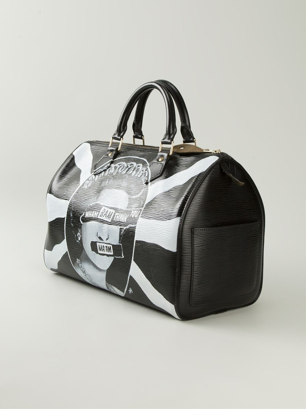 265a0e51a0b221 Louis Vuitton Union Jack Printed Bowling Bag in Black - Lyst